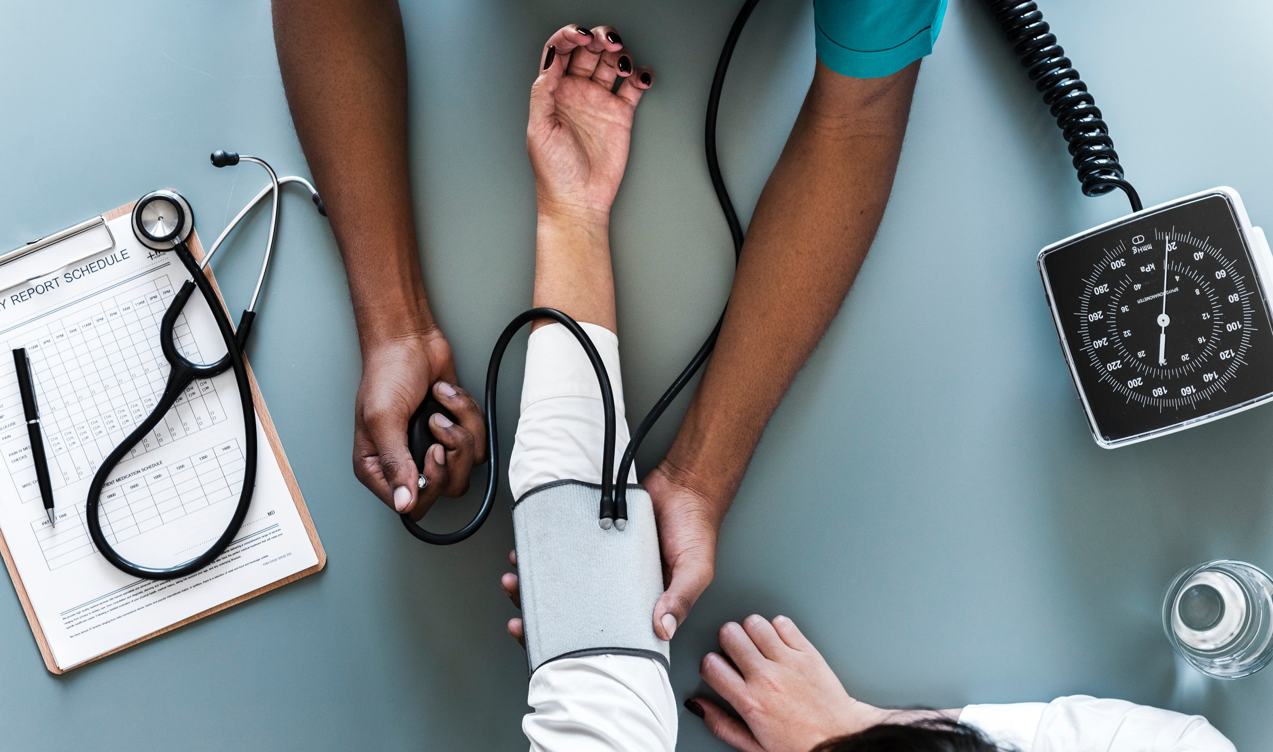 Person Using Black Blood Pressure Monitor, Arms, Monitoring, Water, Treatment, HQ Photo