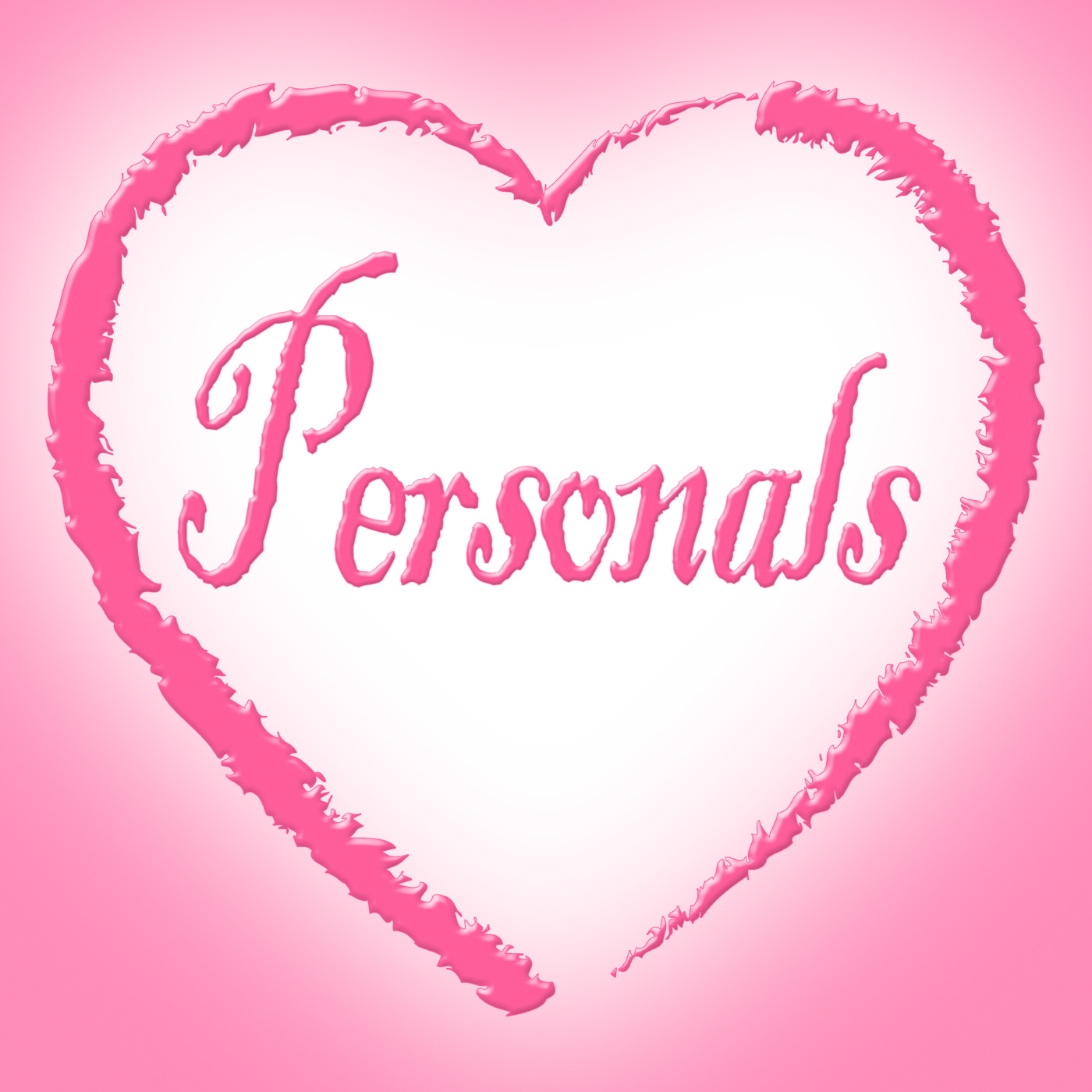 Personals heart means advertisement loneliness and romantic photo