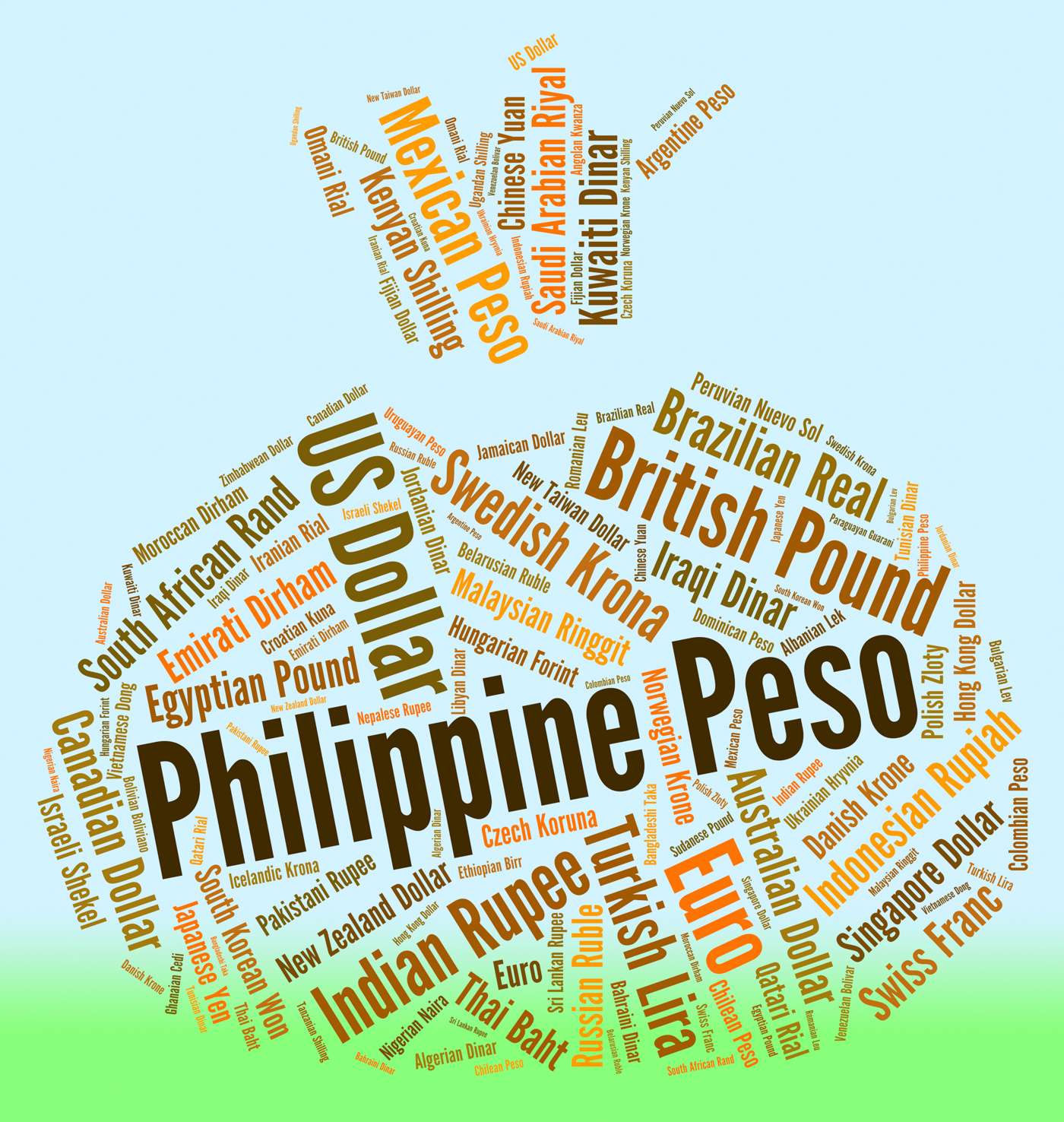 Philippine Peso Means Exchange Rate And Banknote, Banknote, Words, Wordcloud, Word, HQ Photo