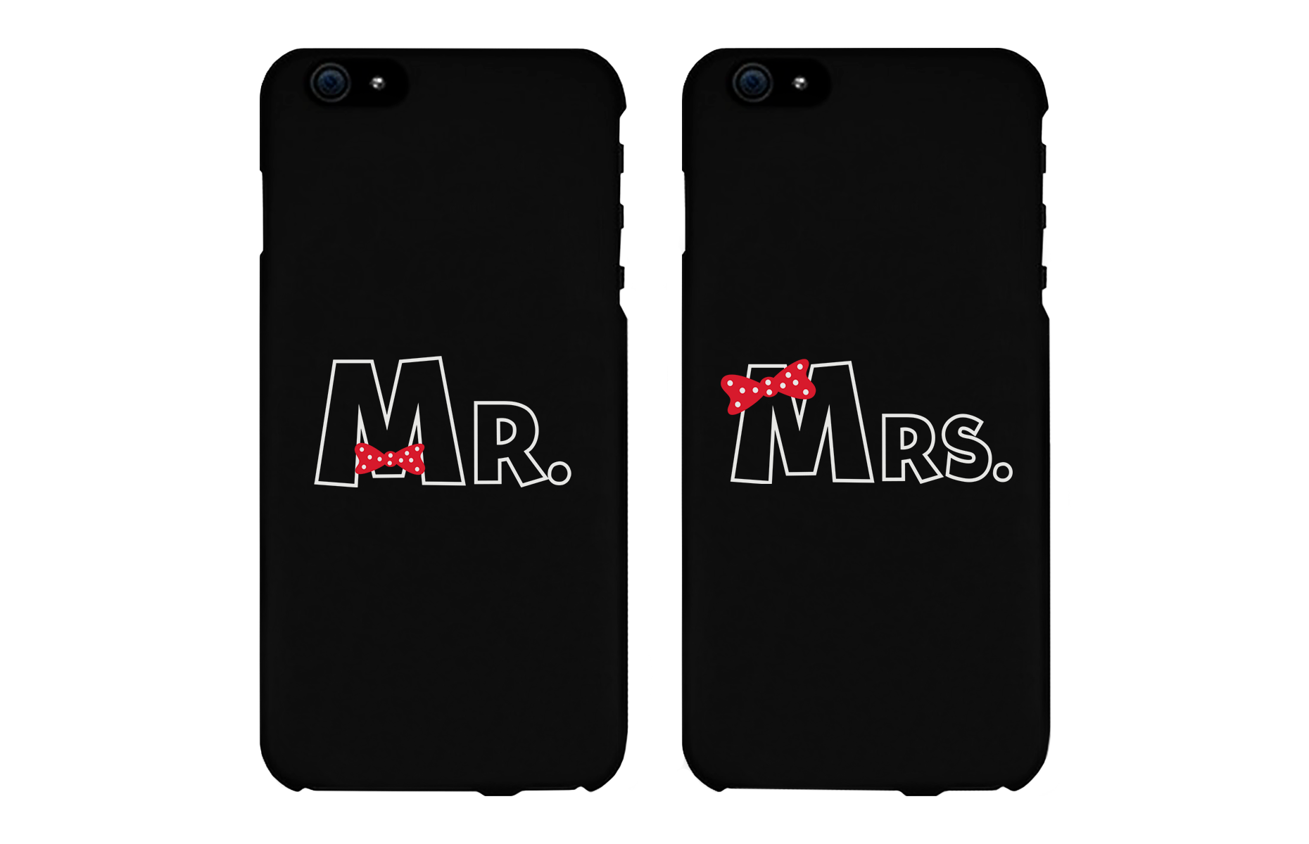 Mr and Mrs Bow Tie Matching Couple Black Phonecases - 365 IN LOVE ...