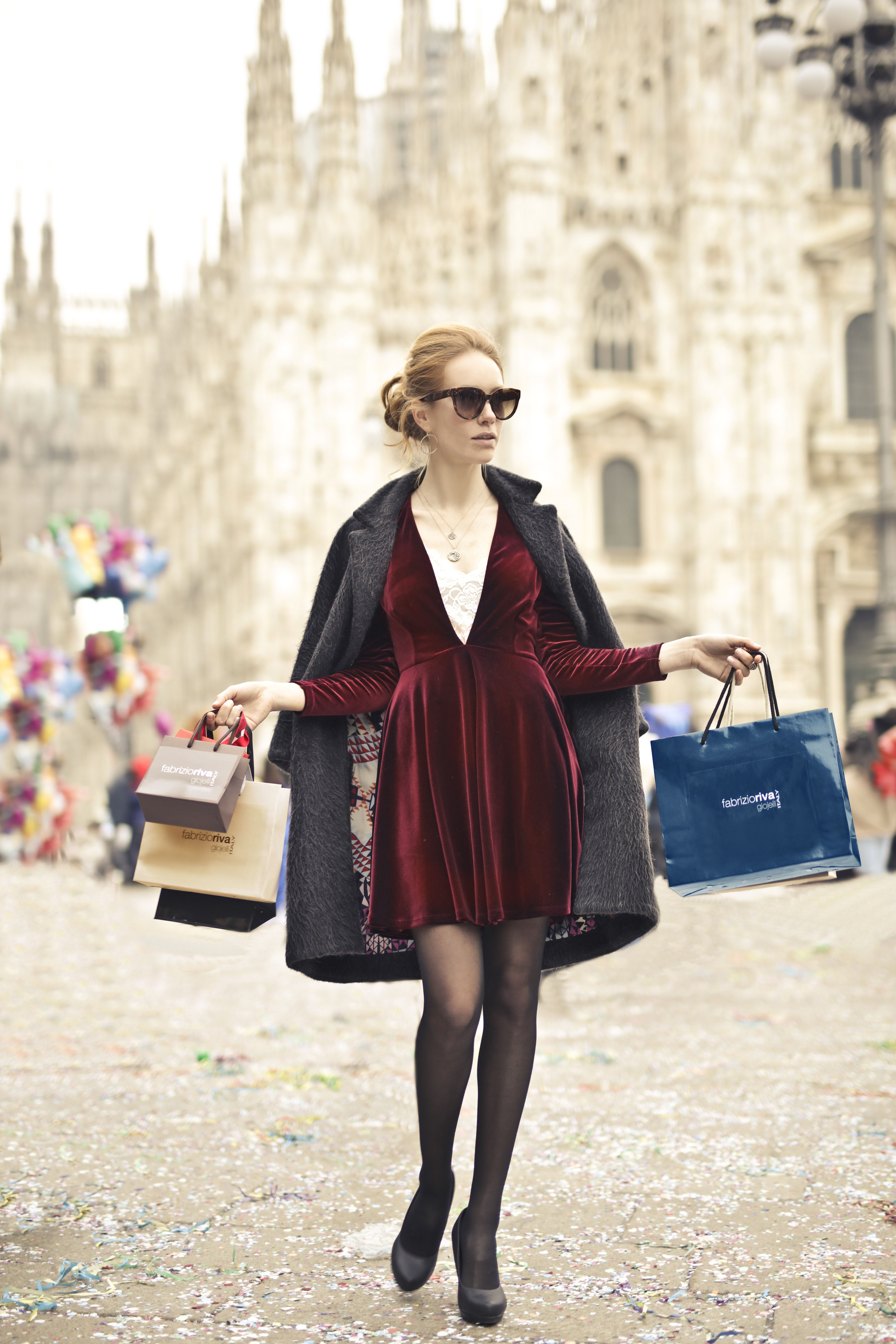Photo of a Woman Holding Shopping Bags, Rich, Shopping, Purchase, Person, HQ Photo