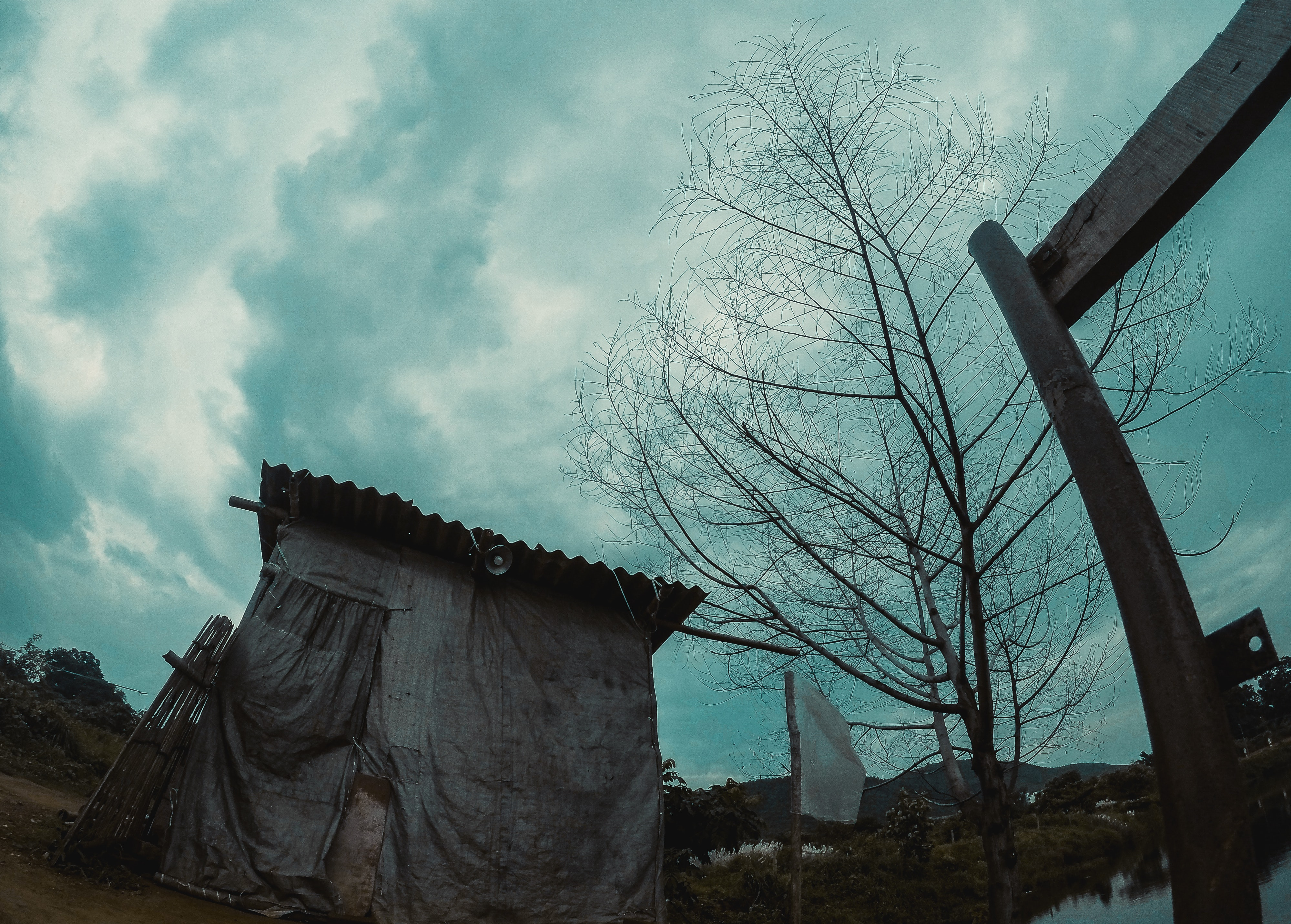 Photo of Abandoned House, Architecture, Water, Tree, Sky, HQ Photo
