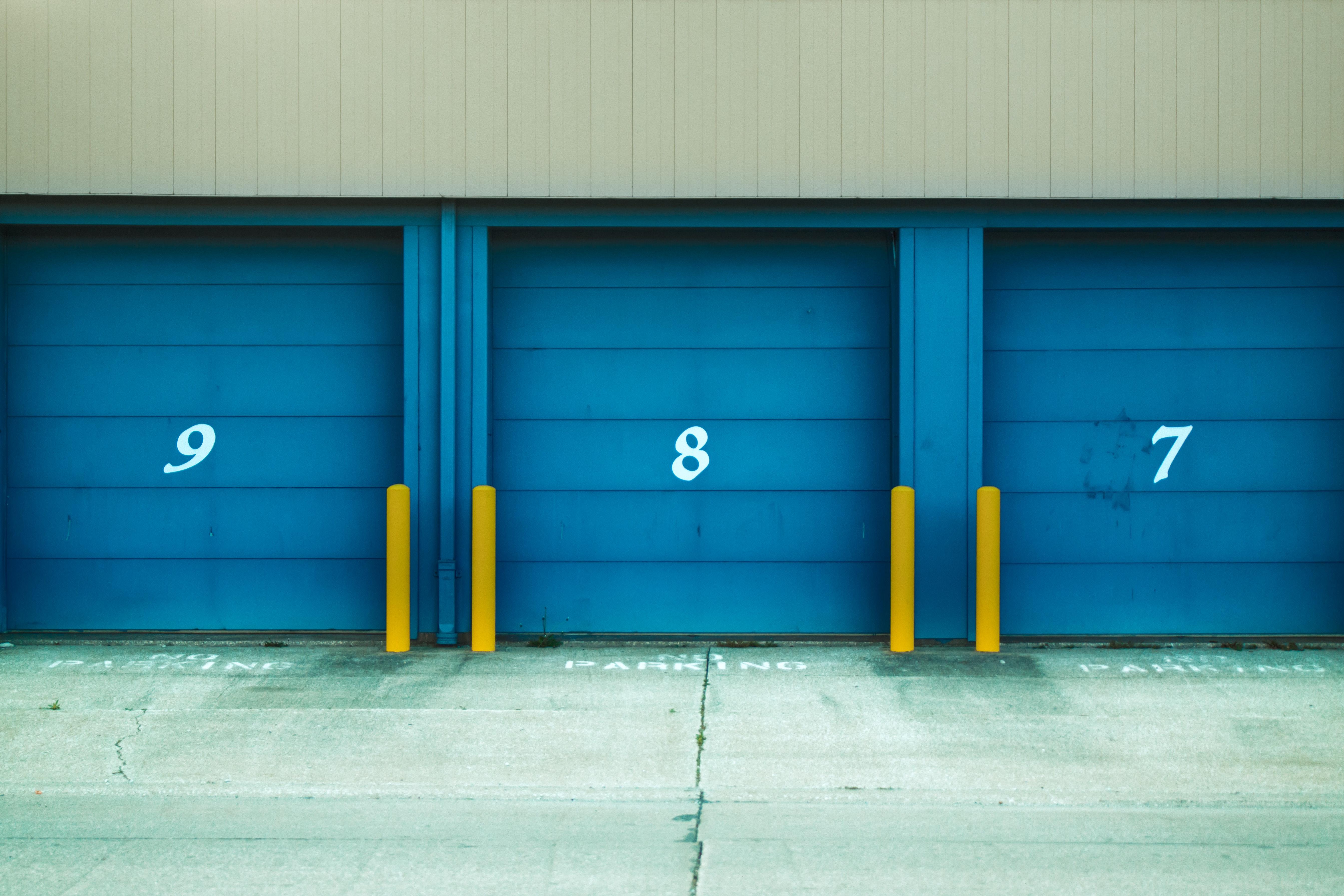 Photo of Blue Shutter Door, Architecture, Asphalt, Blue, Building, HQ Photo