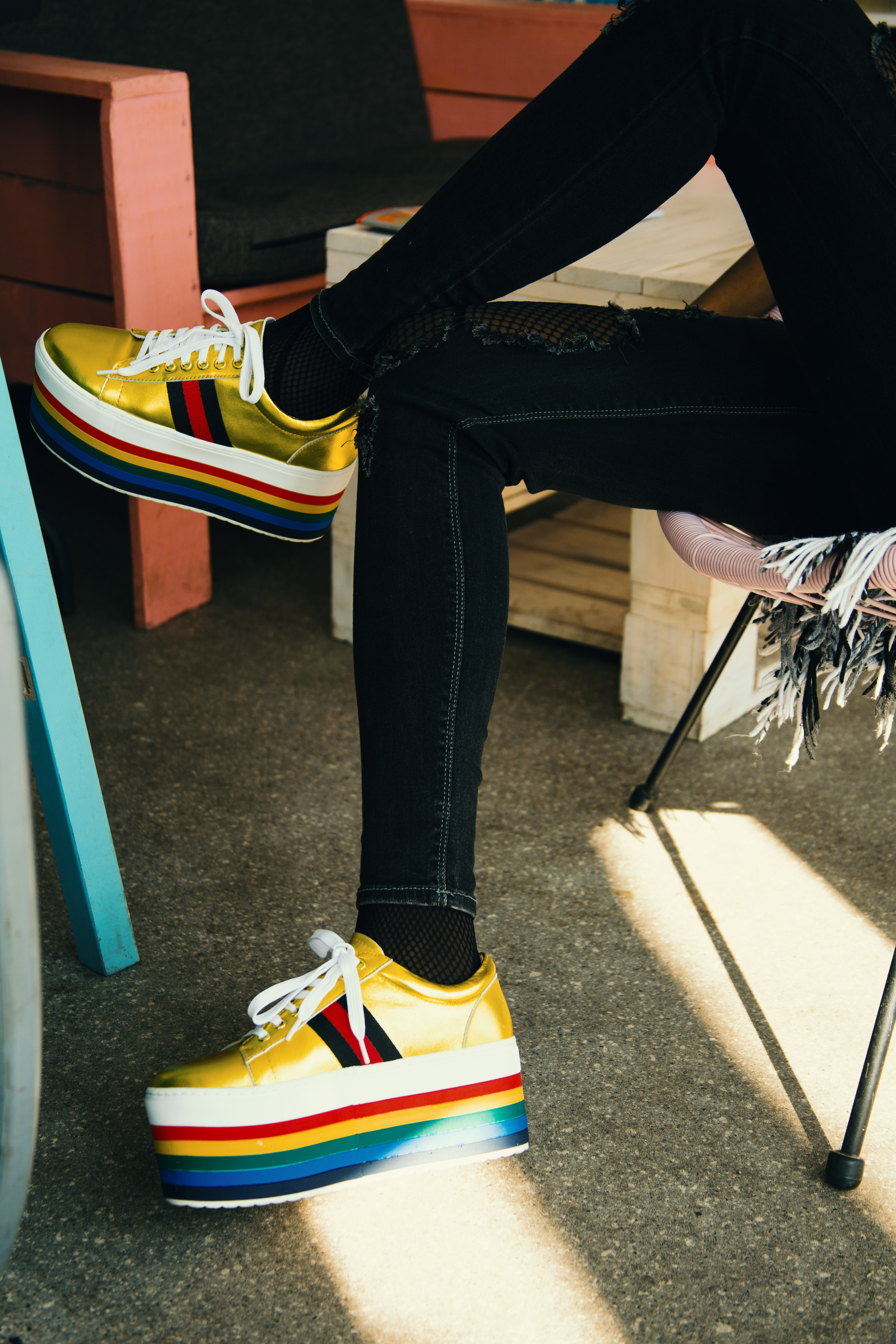 Photo of colorful sneakers