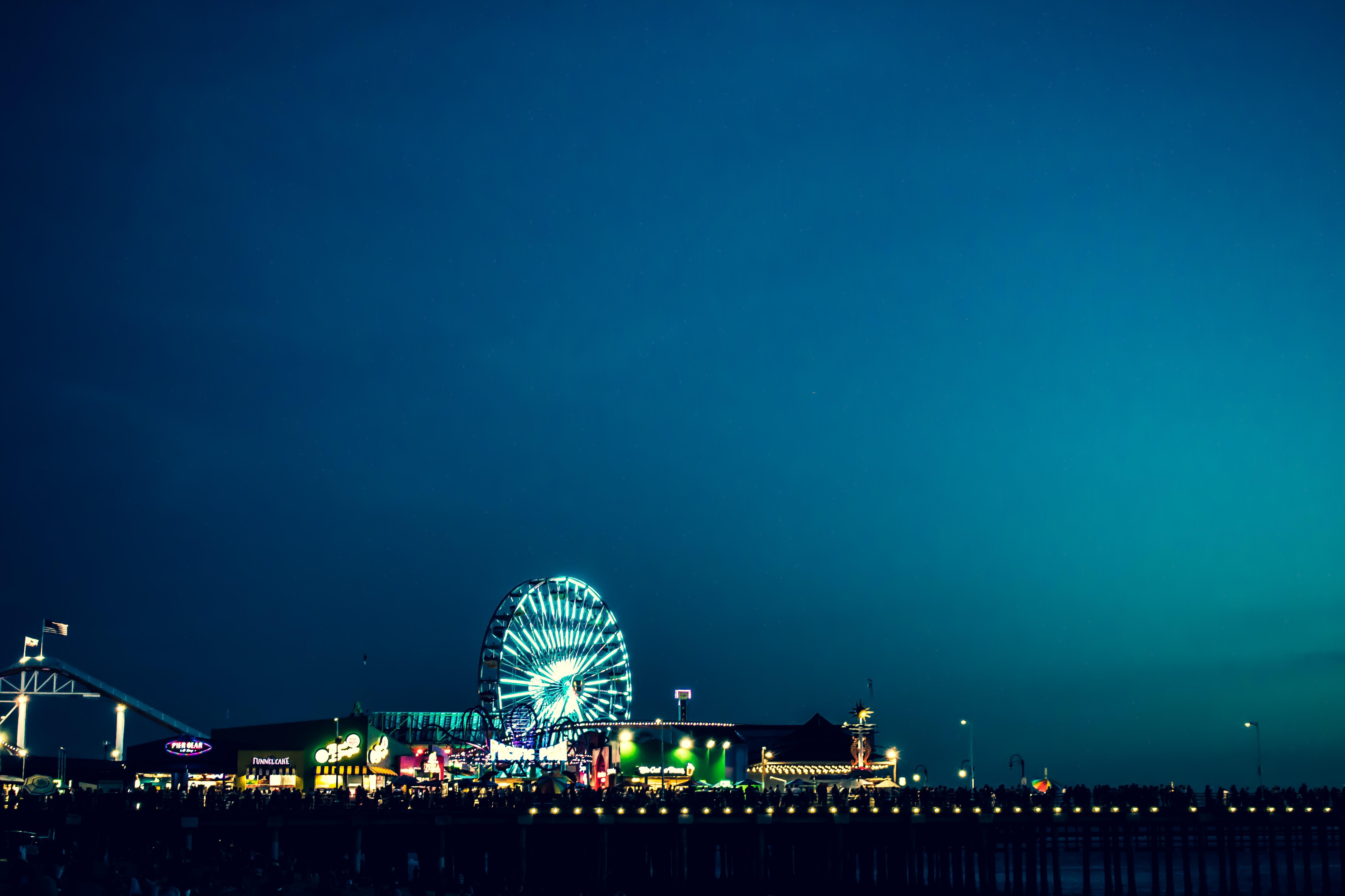 Photo of London's Eye during Nighttime, Amusement park, Illuminated, Travel, Sky, HQ Photo