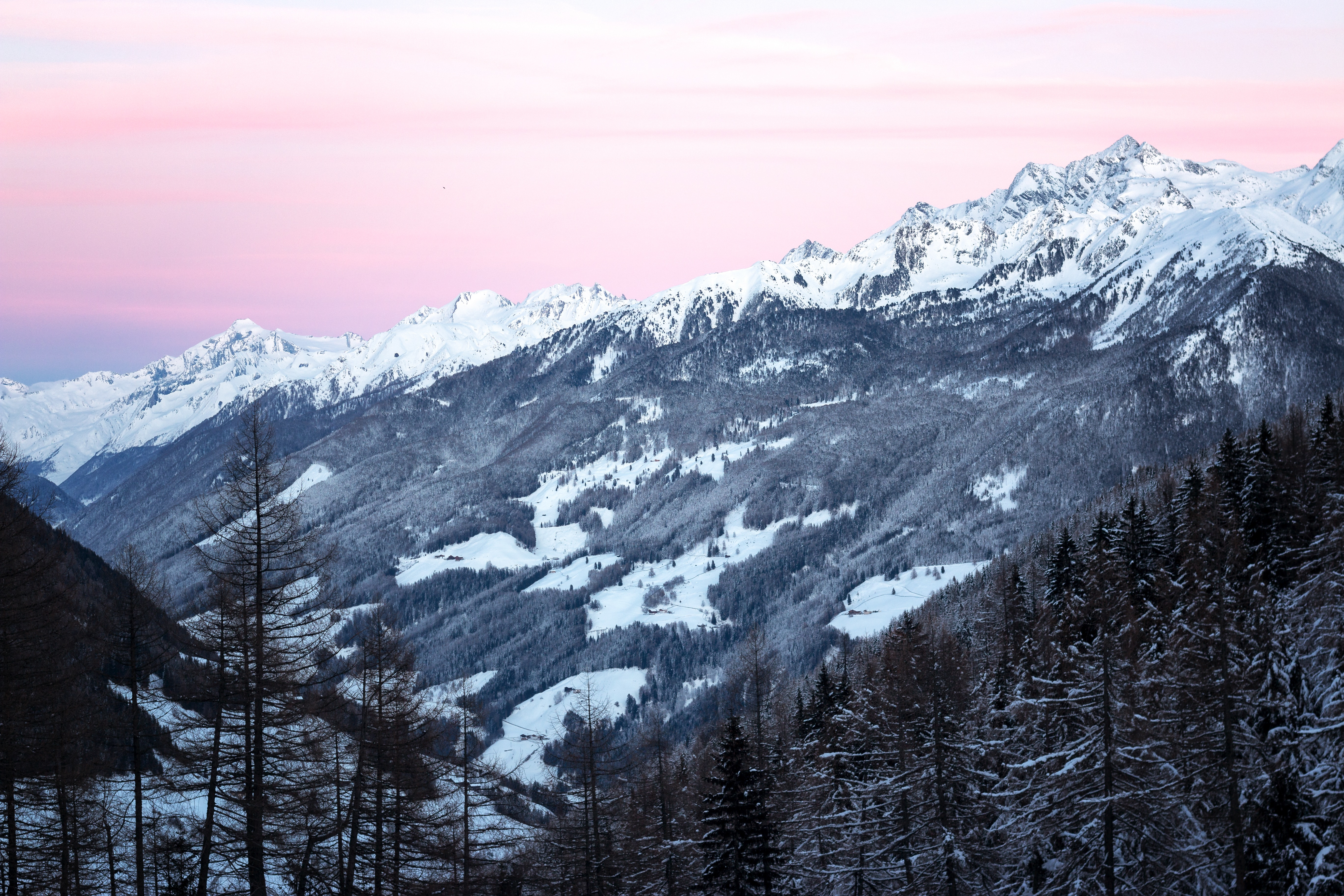 Photo of Mountains Covered by Snow, Cold, Murky, Winter, Weather, HQ Photo