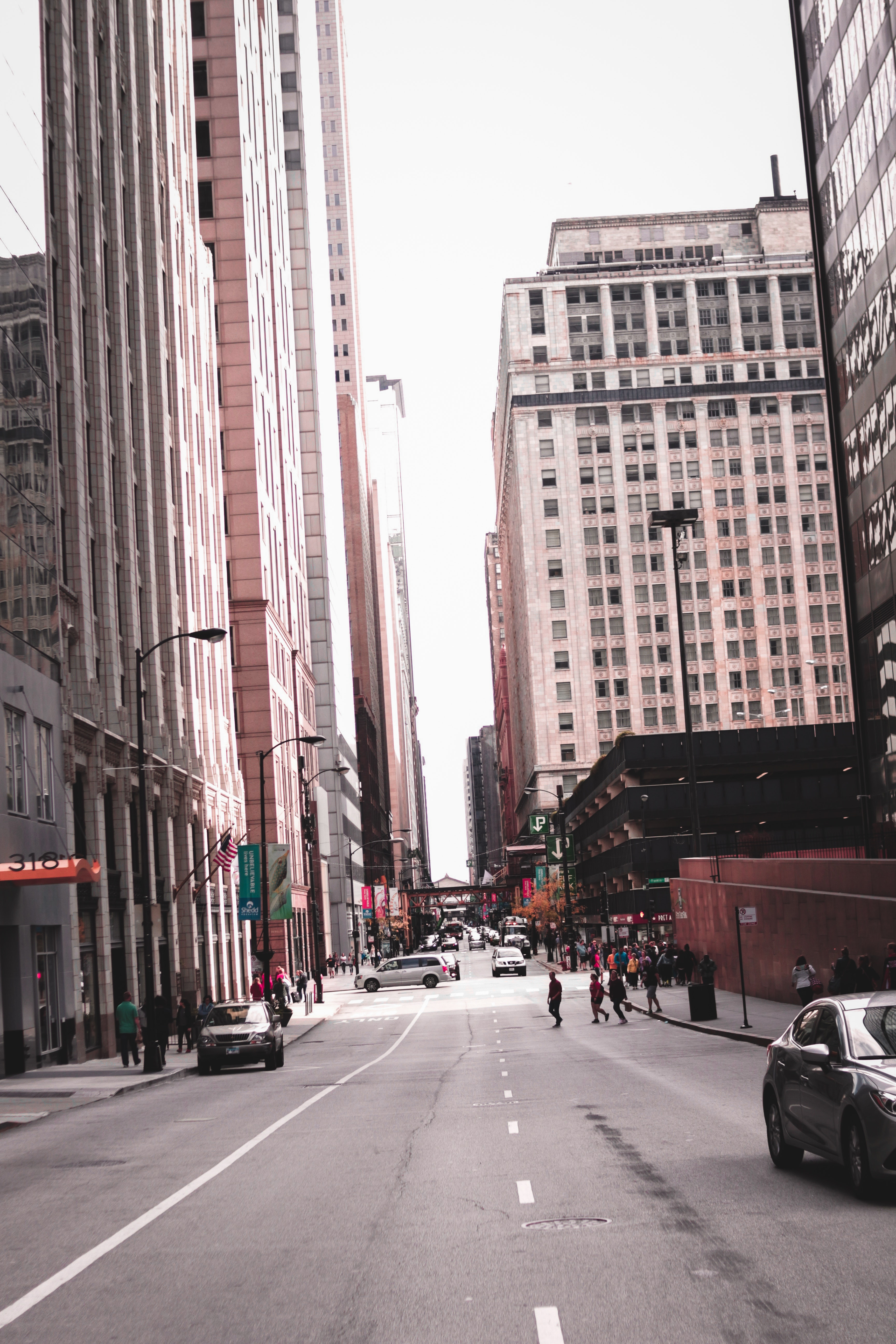 Photo of People Crossing Through Street in the Middle of Buildings, Architecture, Urban, Travel, Transportation system, HQ Photo