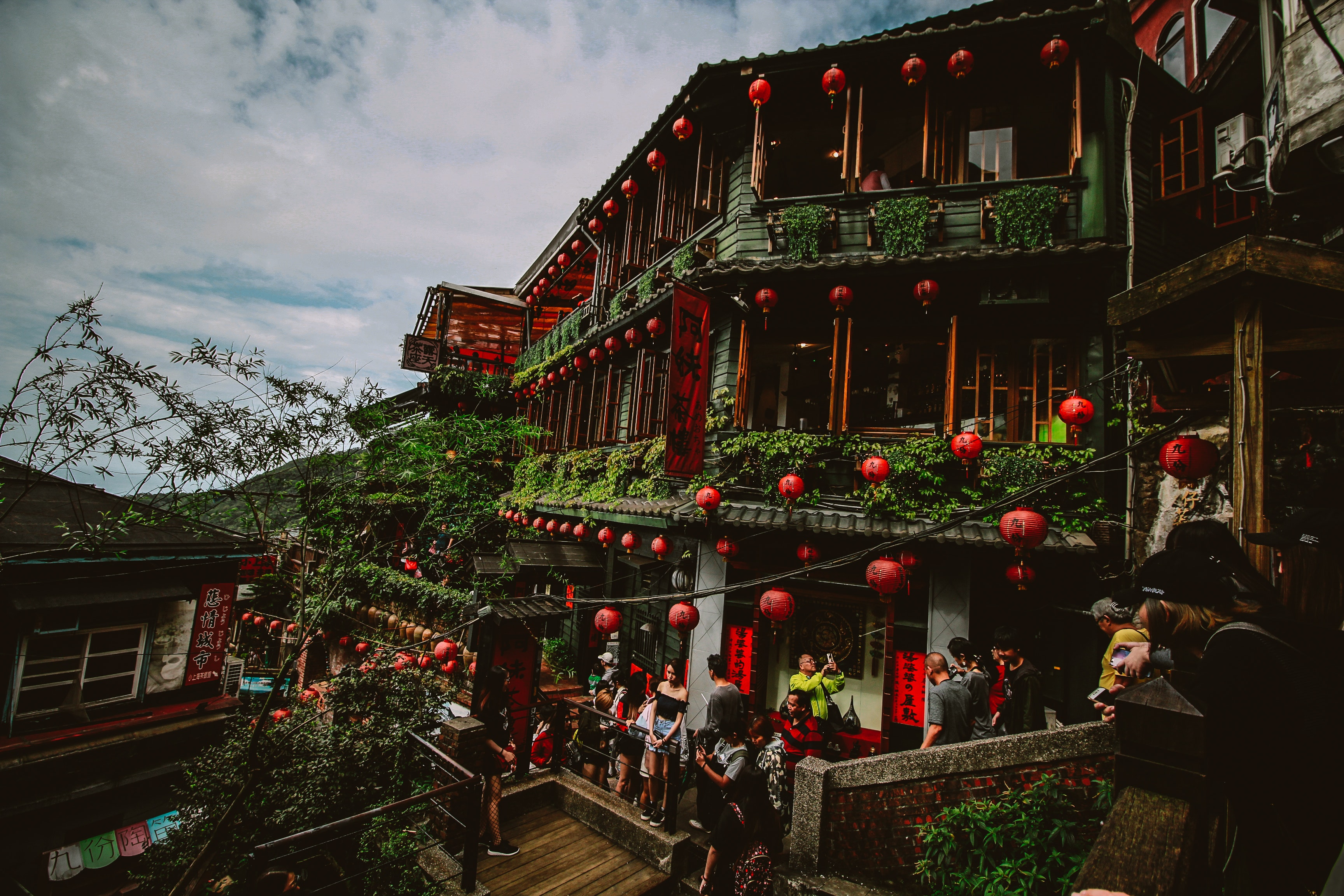 Photo of People in the Temple, Architecture, Taiwan, Trees, Travel, HQ Photo
