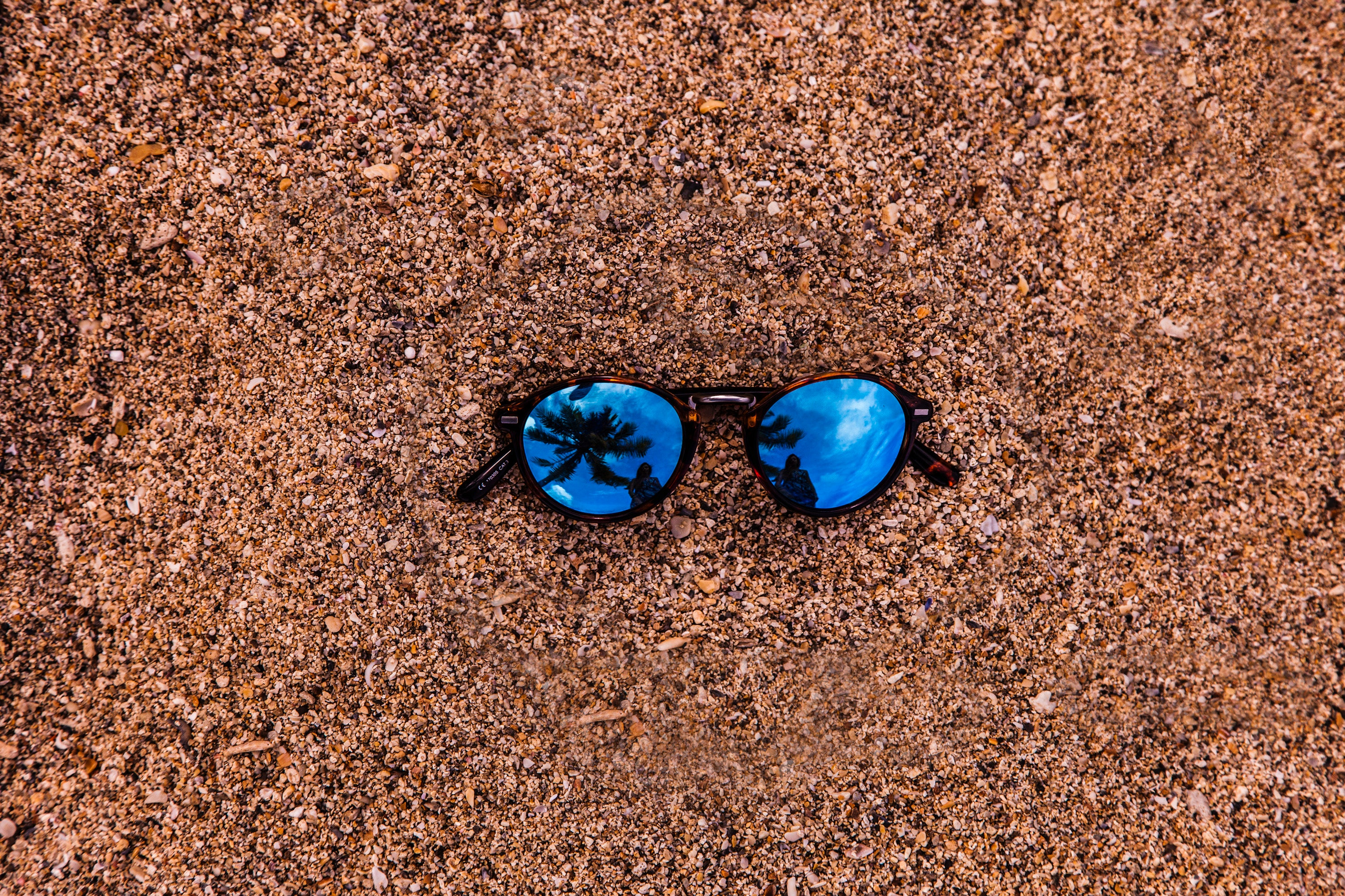 Photo of sunglasses in the ground