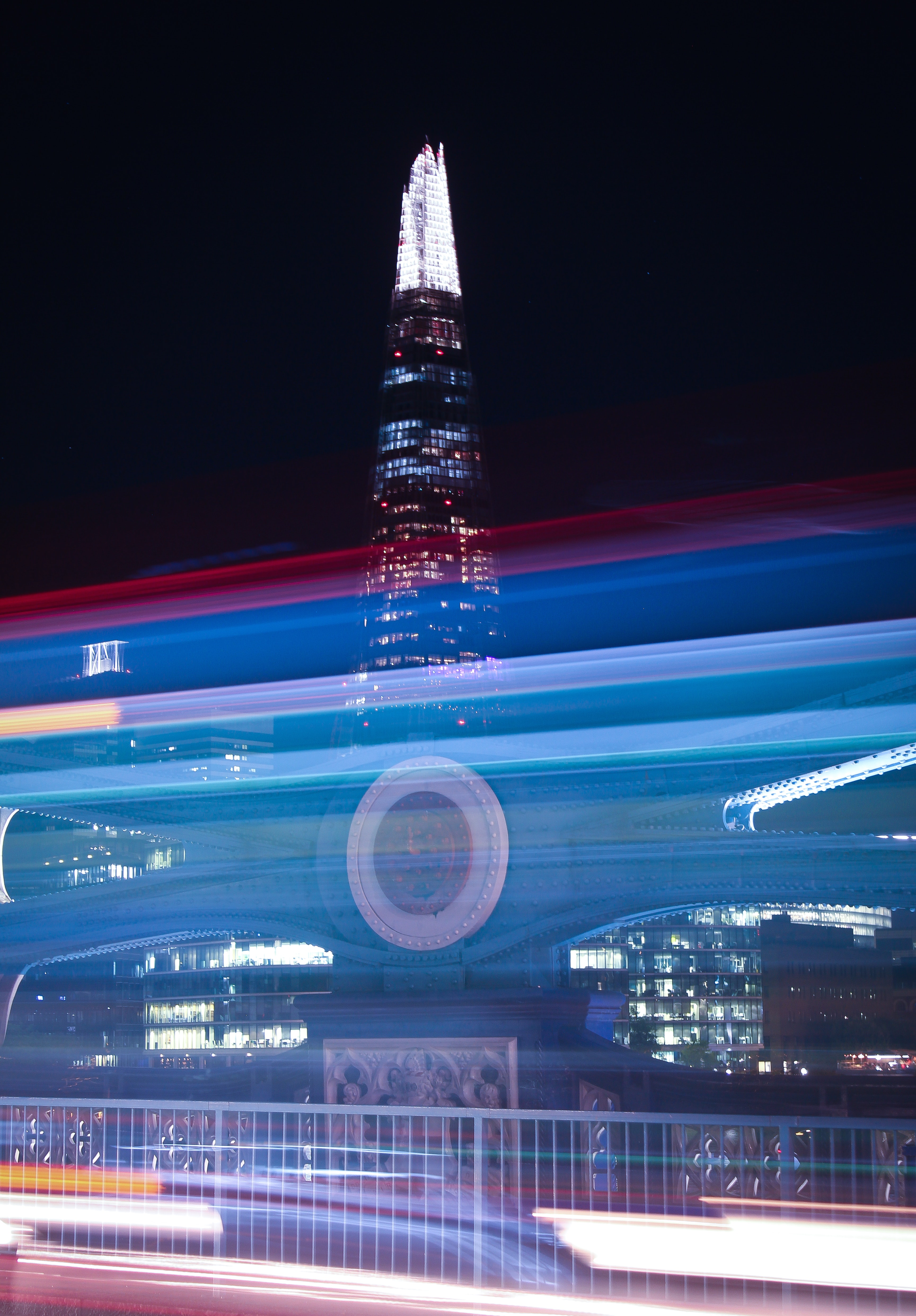 Photo of the shard building during night time
