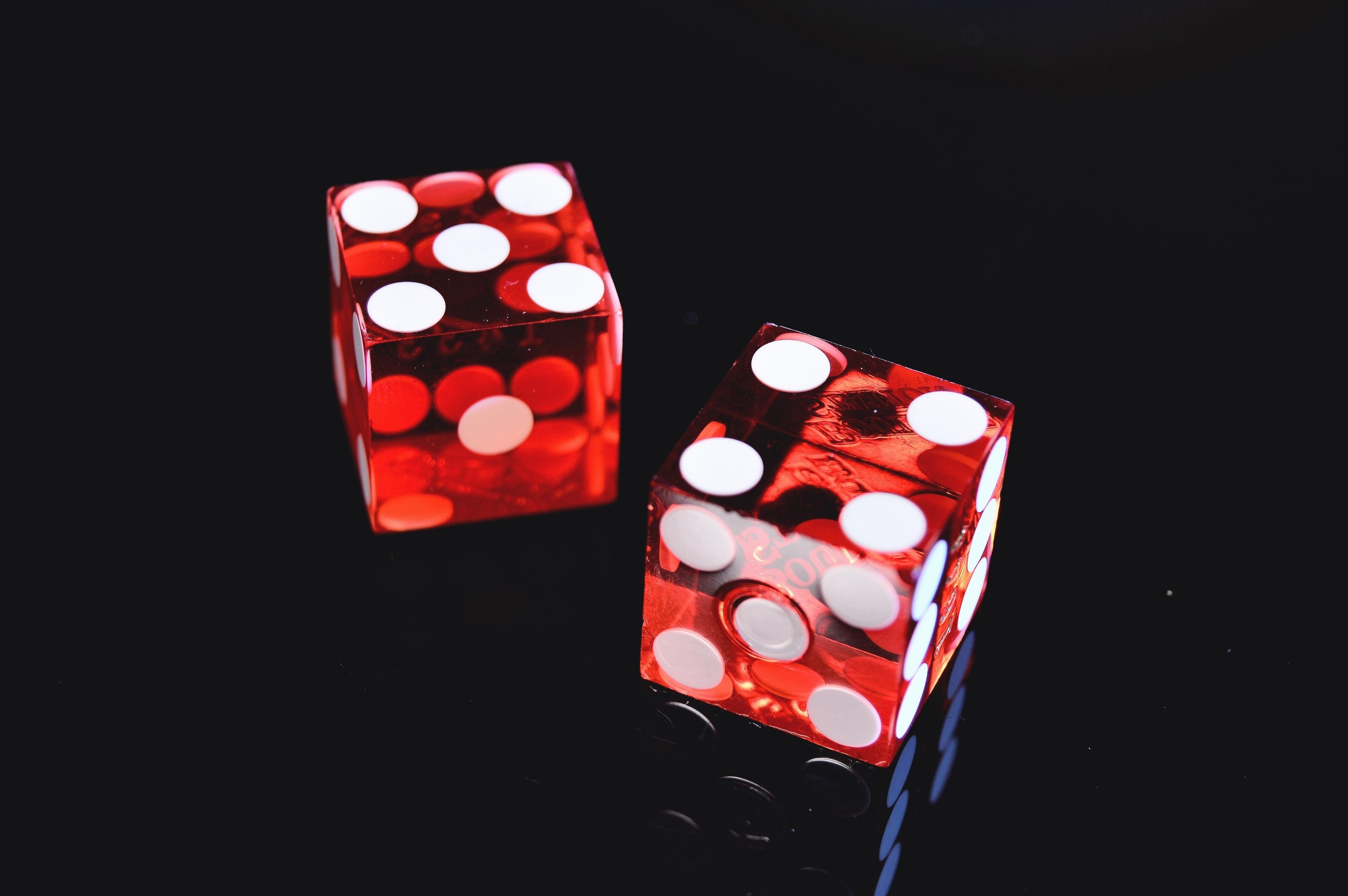 Photo of Two Red Dices, Play, Poker, Luck, Red, HQ Photo
