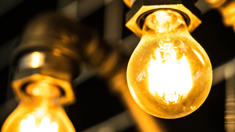 Photo of Two Turned on Bulbs, Blur, Power, Night, Luminescence, HQ Photo