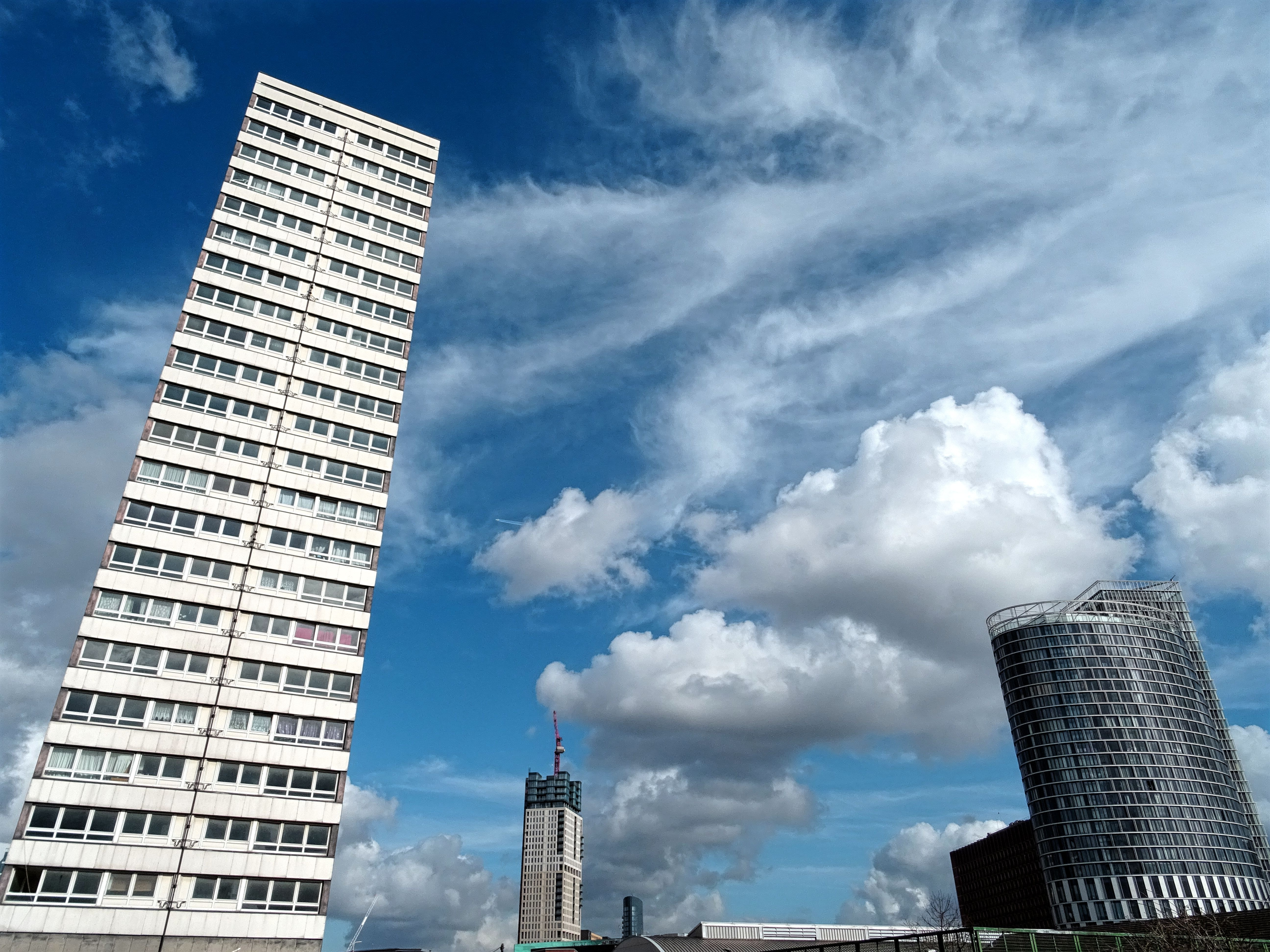 Photo of White High Rise Building, Low angle shot, Urban, Tower, Tall, HQ Photo