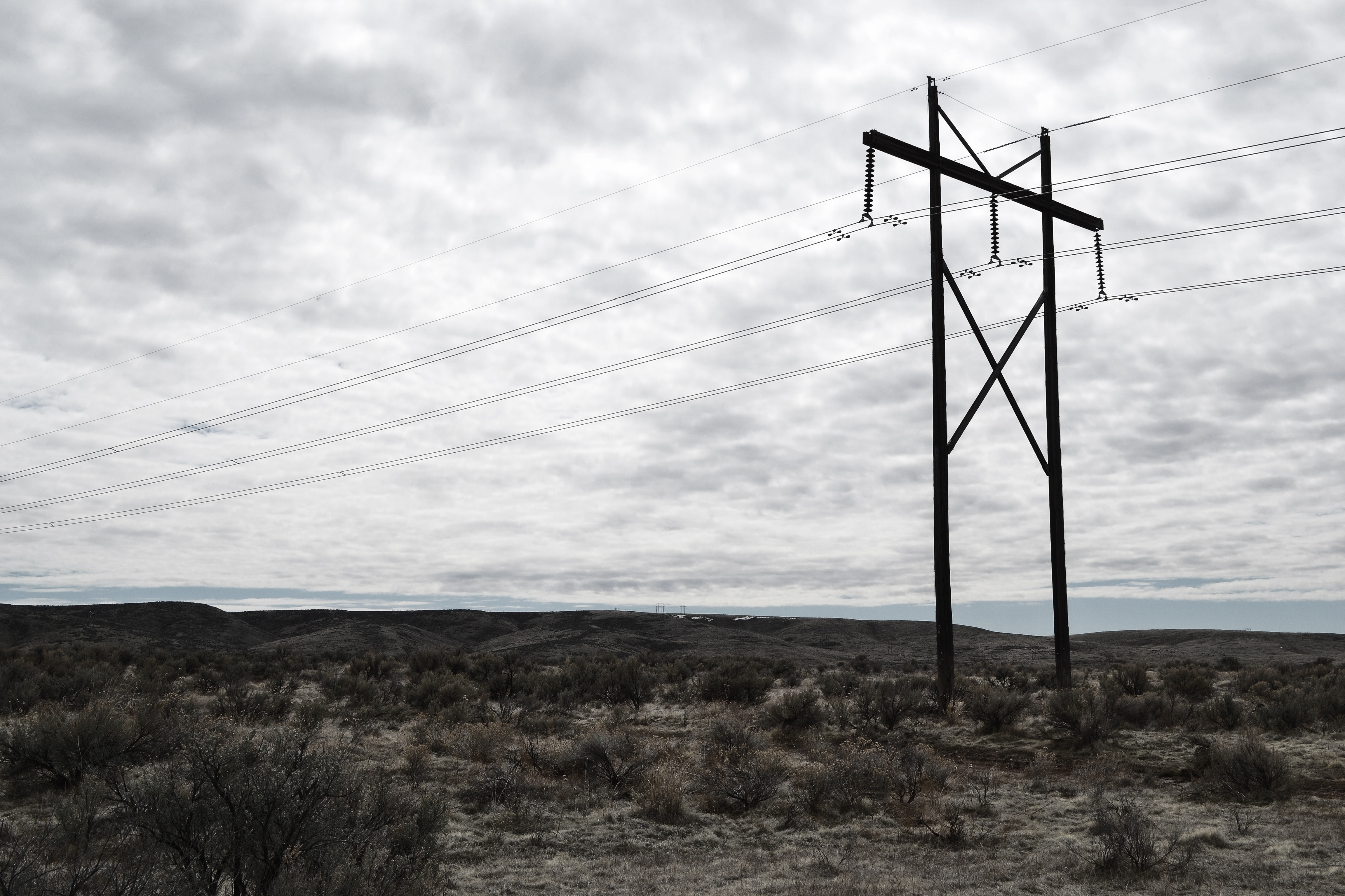 Photograph of Electrical Post on Cloudy Day, Cables, Outdoors, Wind, Voltage, HQ Photo