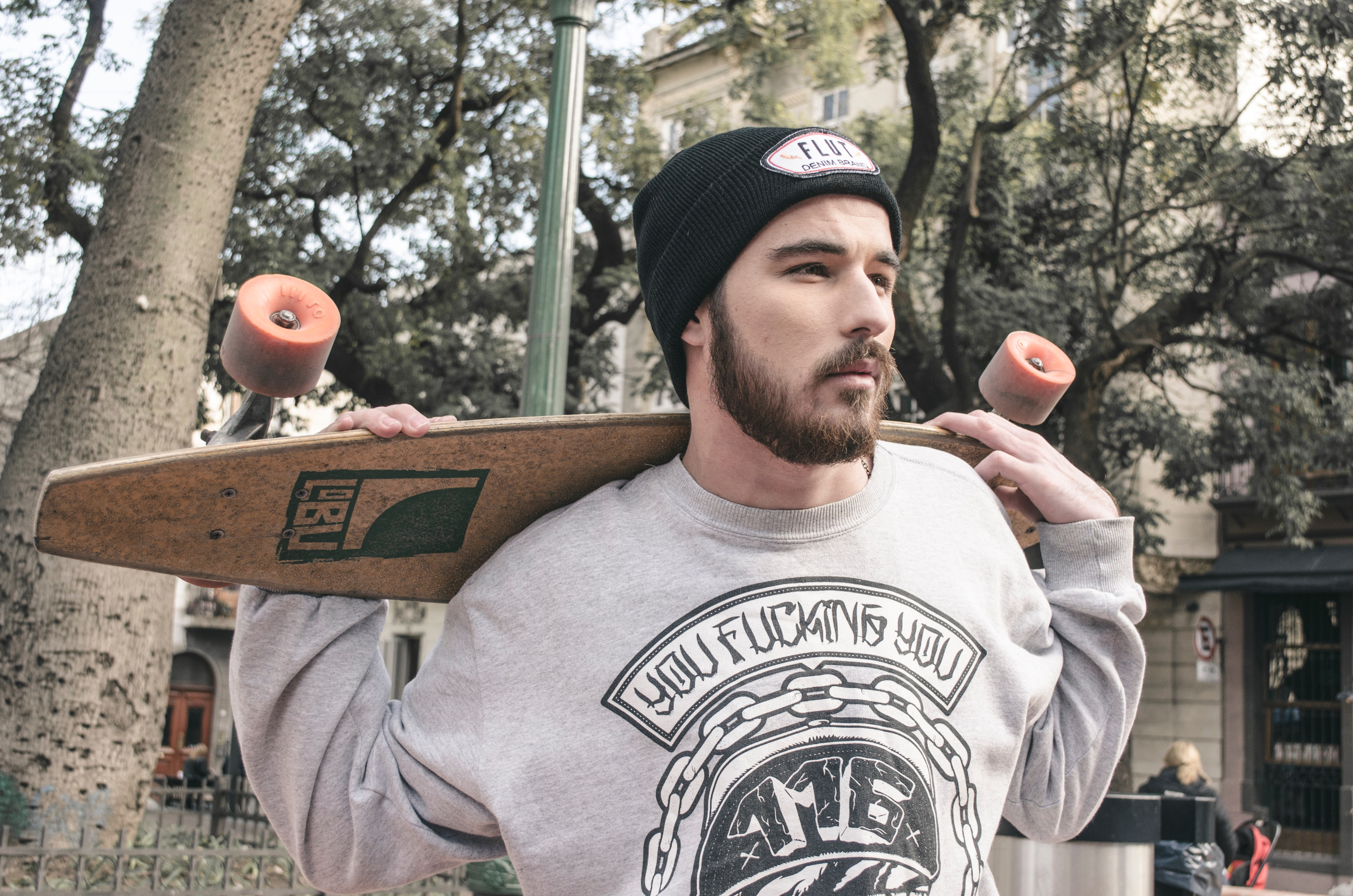 Photography of a Man Holding Longboard, Adult, Photoshoot, Wear, Urban, HQ Photo