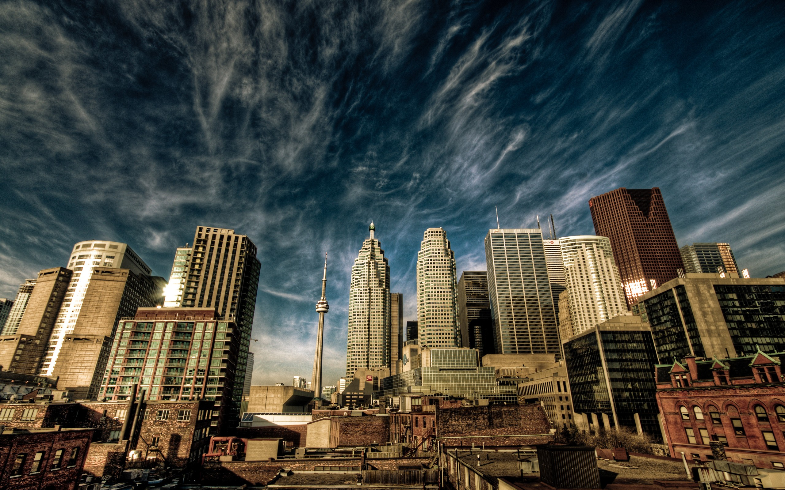 clouds, cityscapes, buildings, Toronto, HDR photography, skyscapes ...