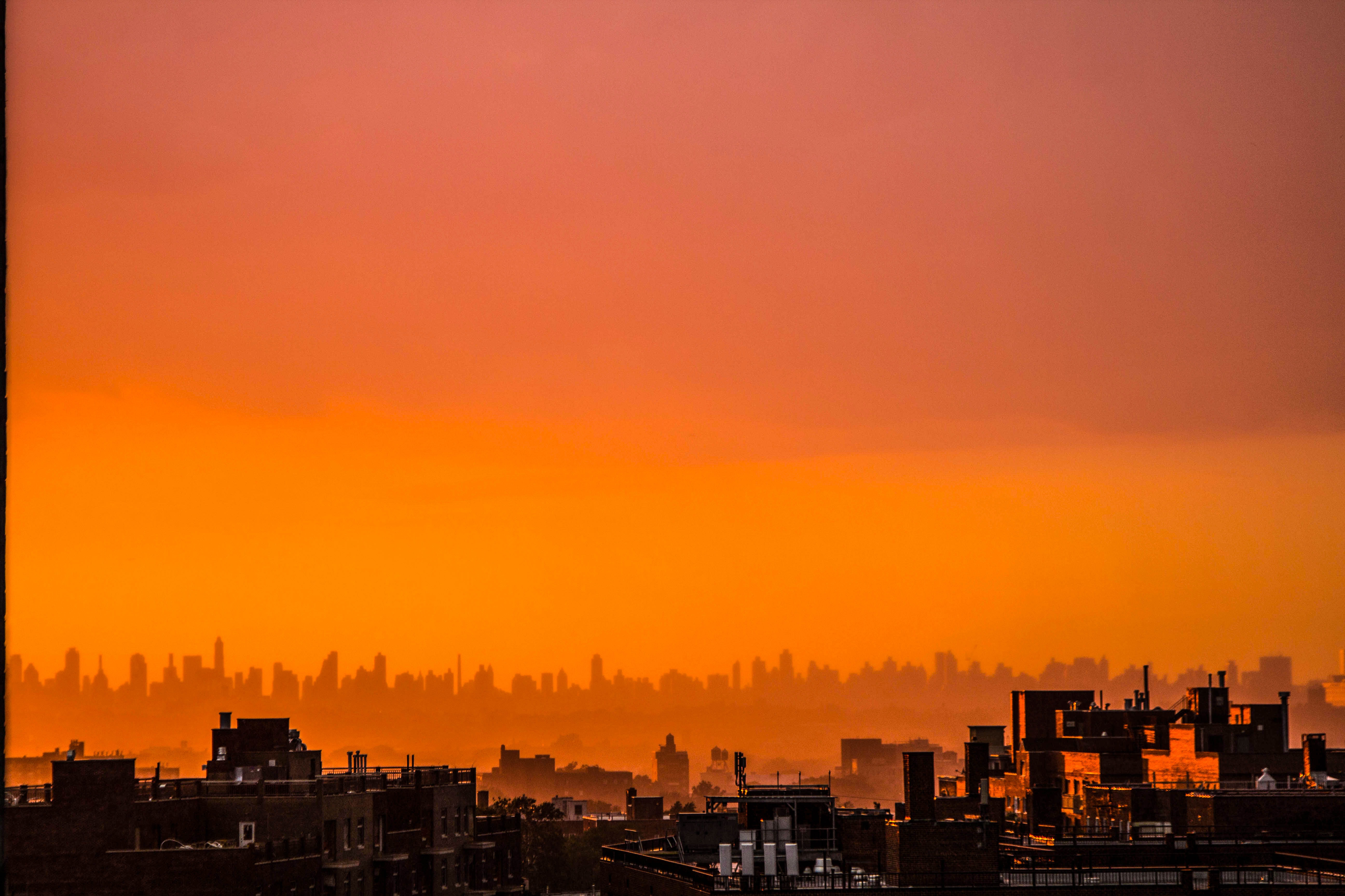 Photography of City During Sunset, Architecture, Sunset, Skyline, Sky, HQ Photo