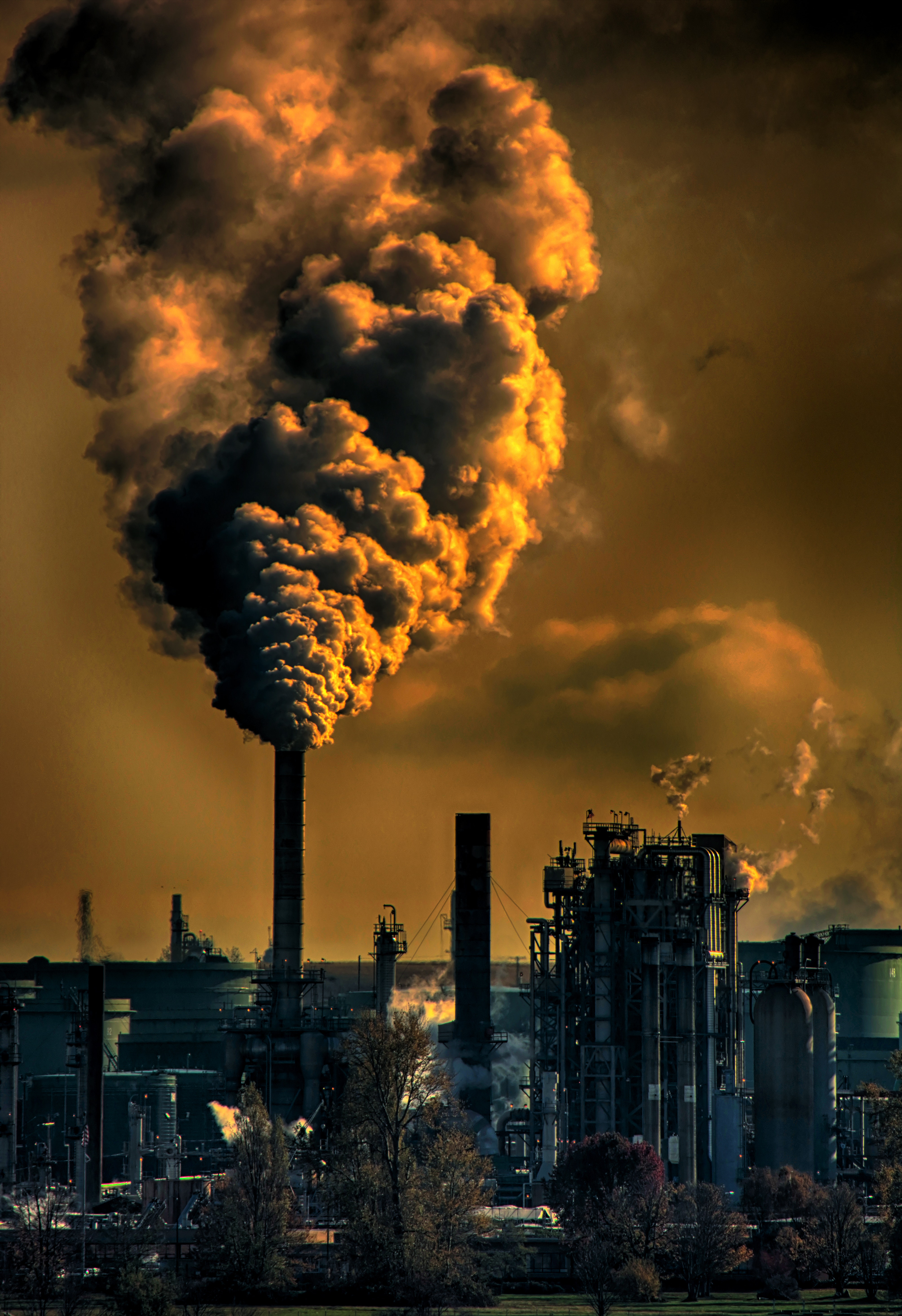 Photography of Factory, Air pollution, Industry, Sunset, Smoking, HQ Photo