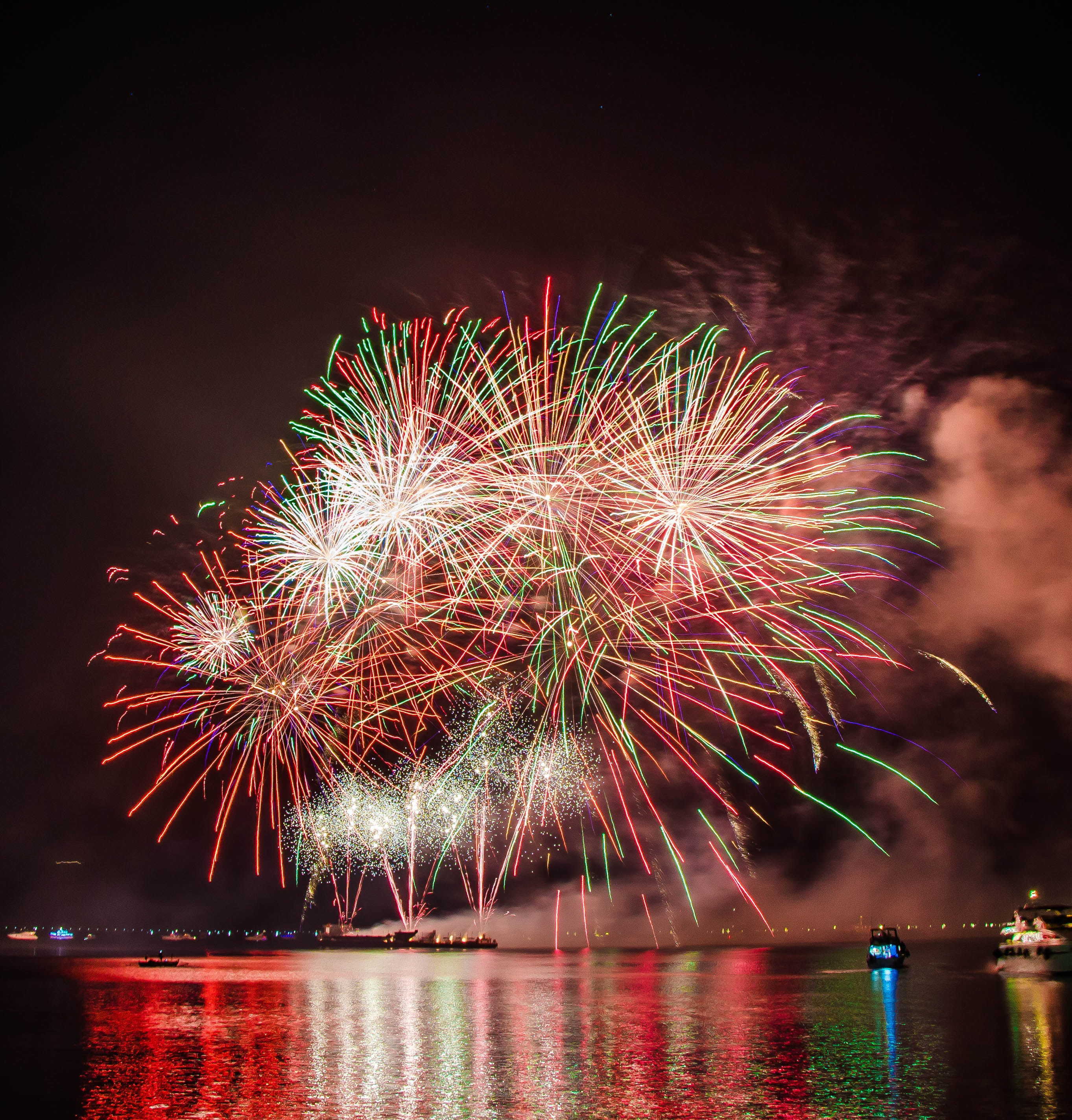 Photography of Fireworks Display, Beautiful, New year, Water, Vacation, HQ Photo