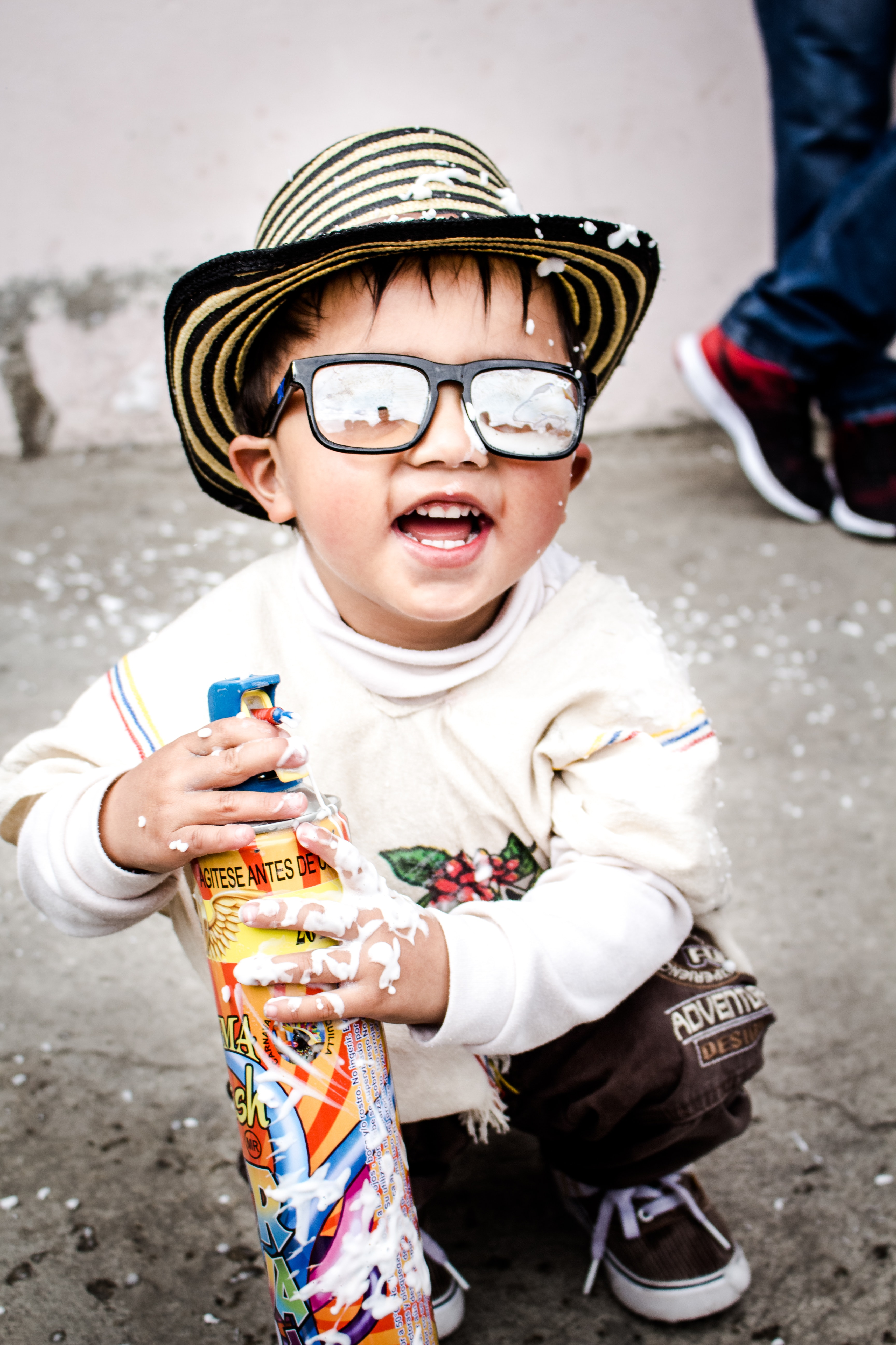 Photography of kid wearing sunglasses