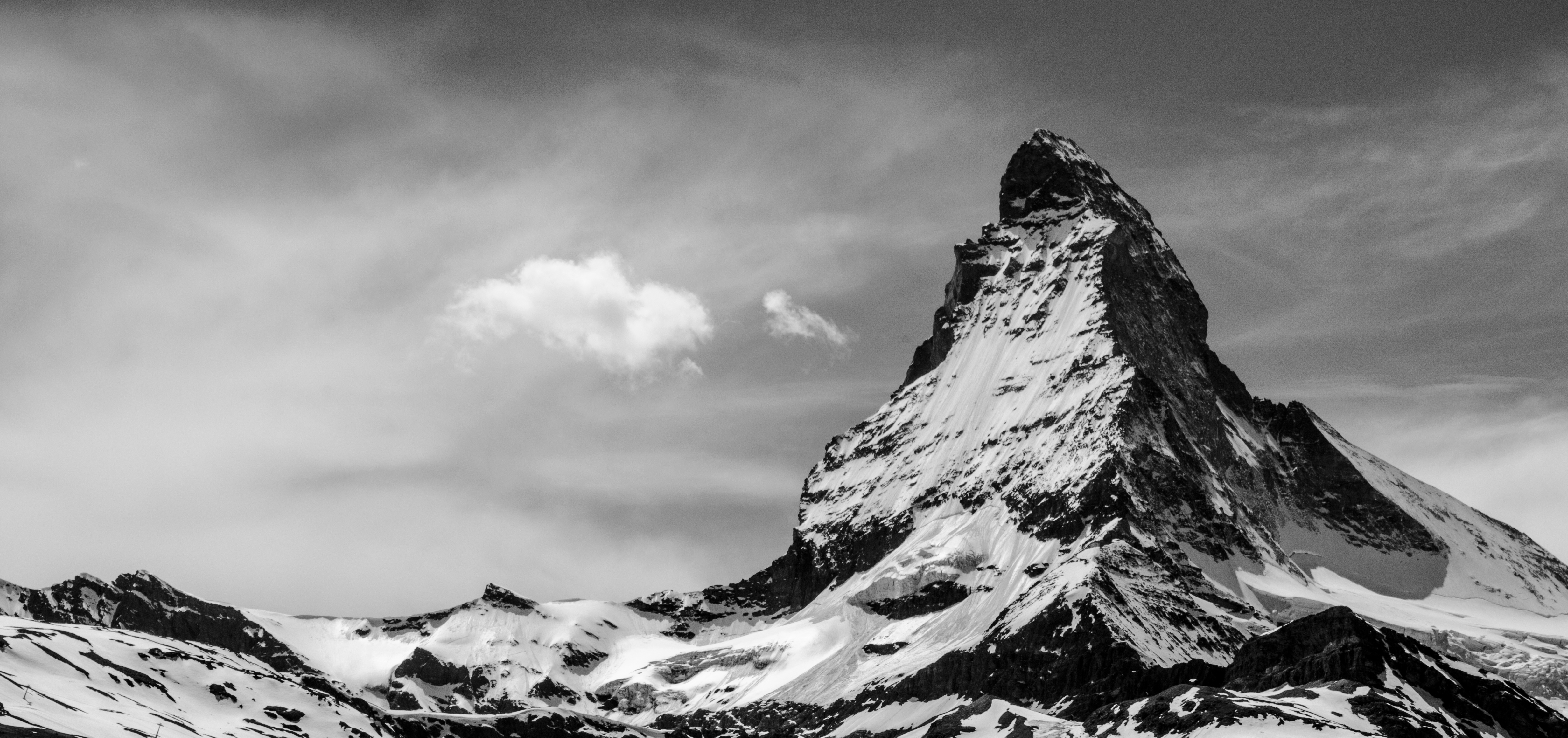 Free Images : nature, rock, snow, winter, cloud, black and white ...