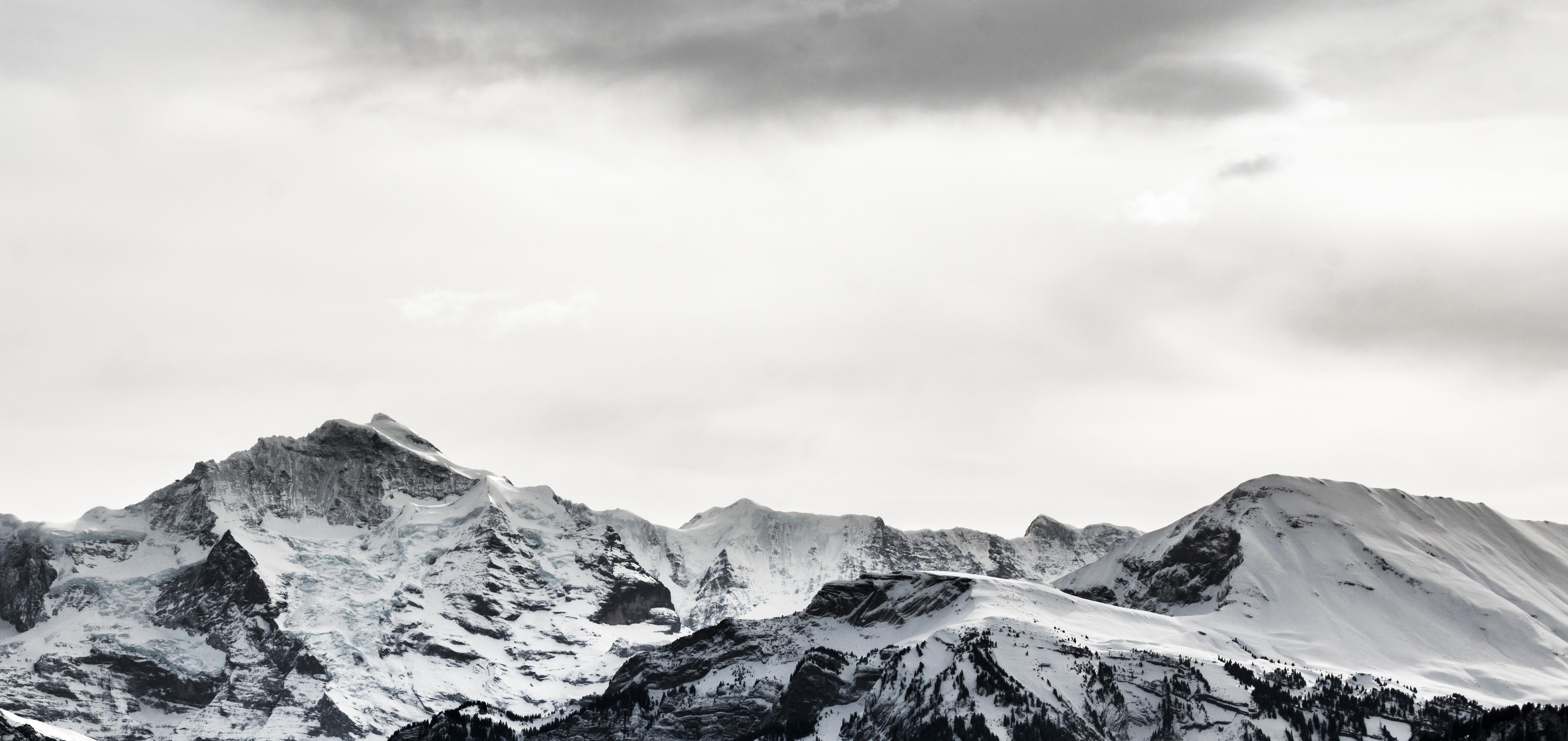 Free Images : landscape, nature, rock, snow, winter, cloud, black ...