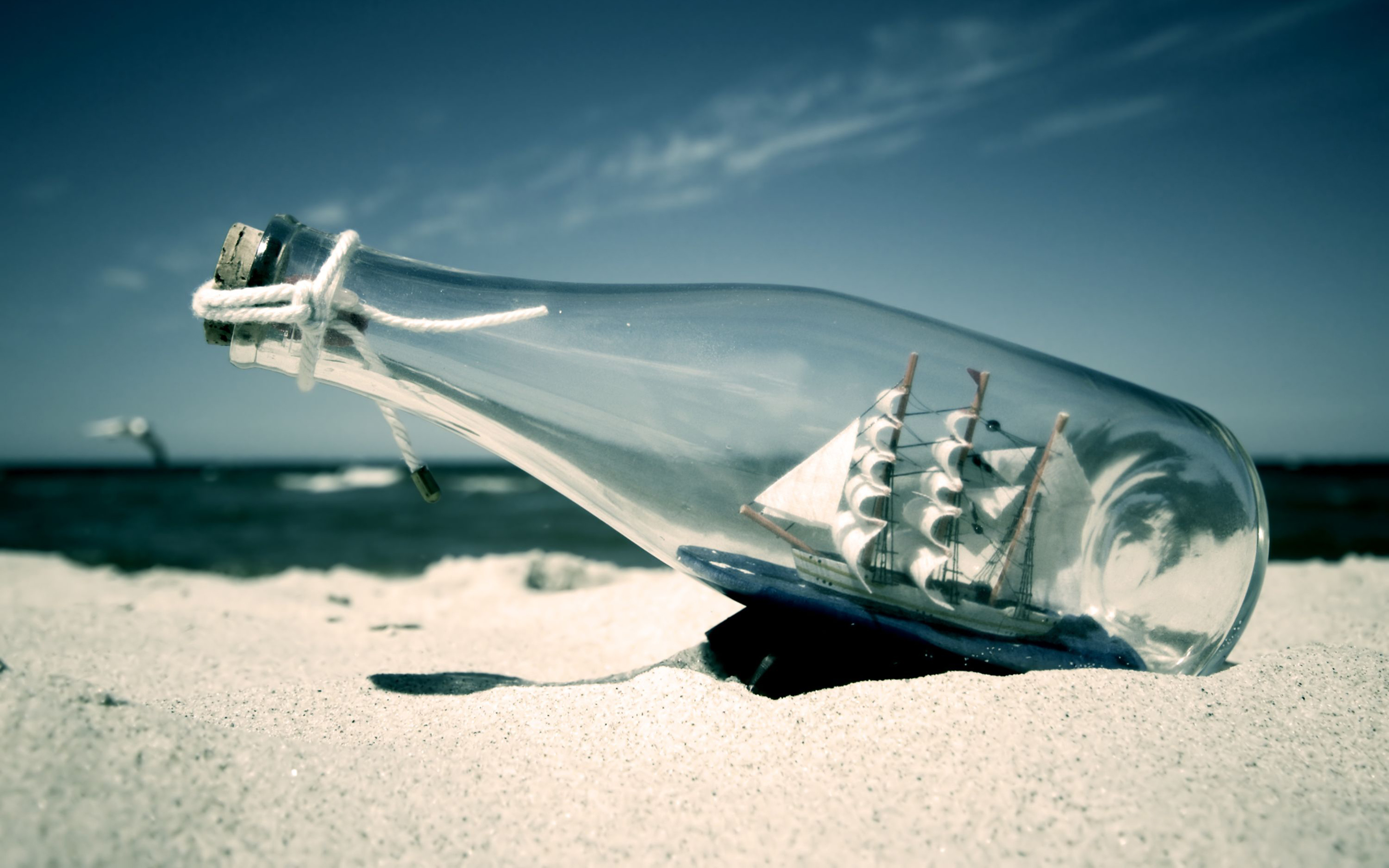 Ship Bottle Sea #2635 Wallpapers and Free Stock Photos | Visual Cocaine