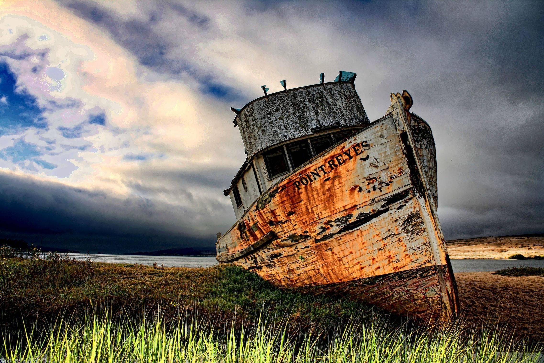 vintage #ship #grass #photography #desktop wallpaper #landscape ...
