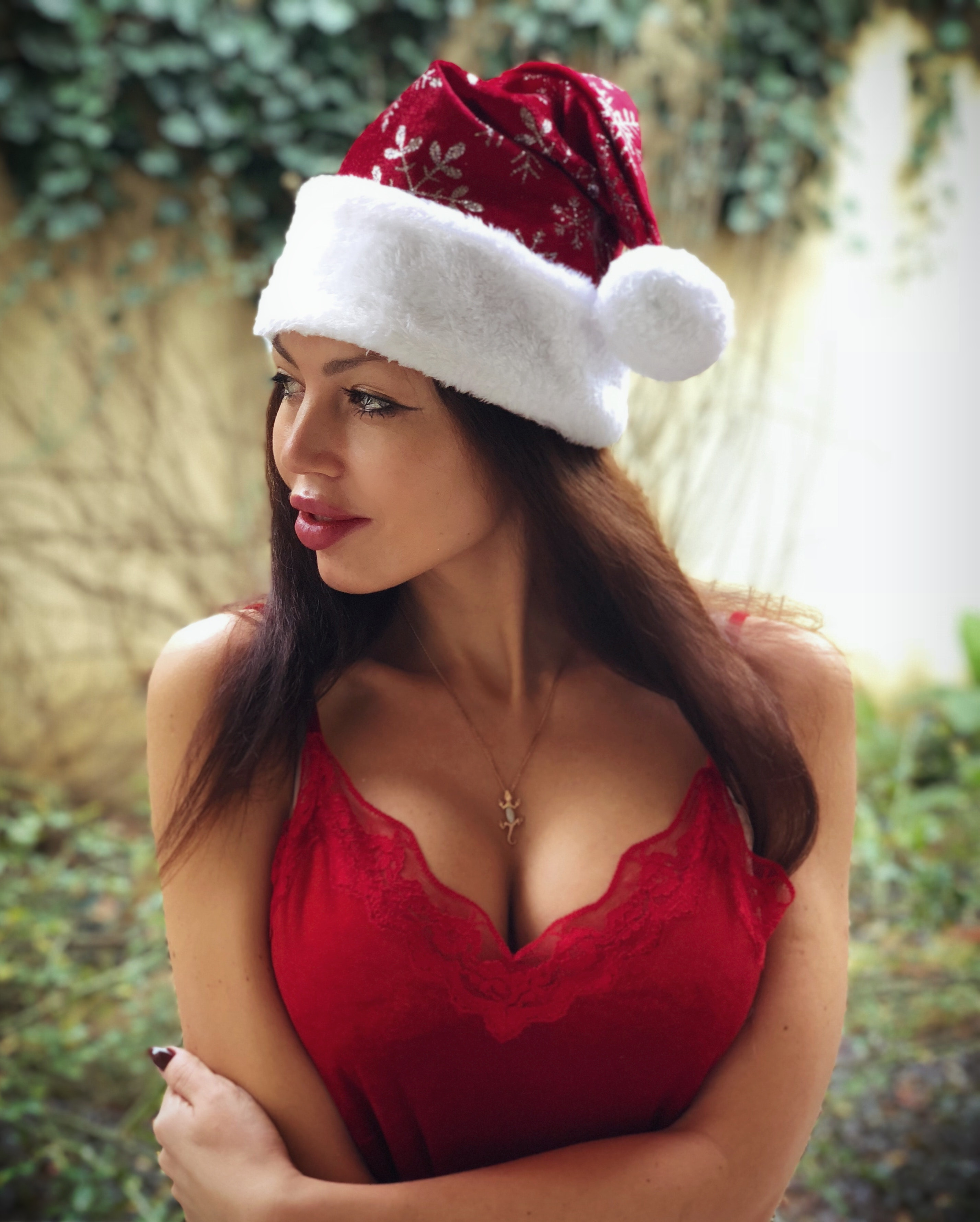 Photography of Woman Wearing Santa Hat, Adult, Lady, Wear, Smiling, HQ Photo