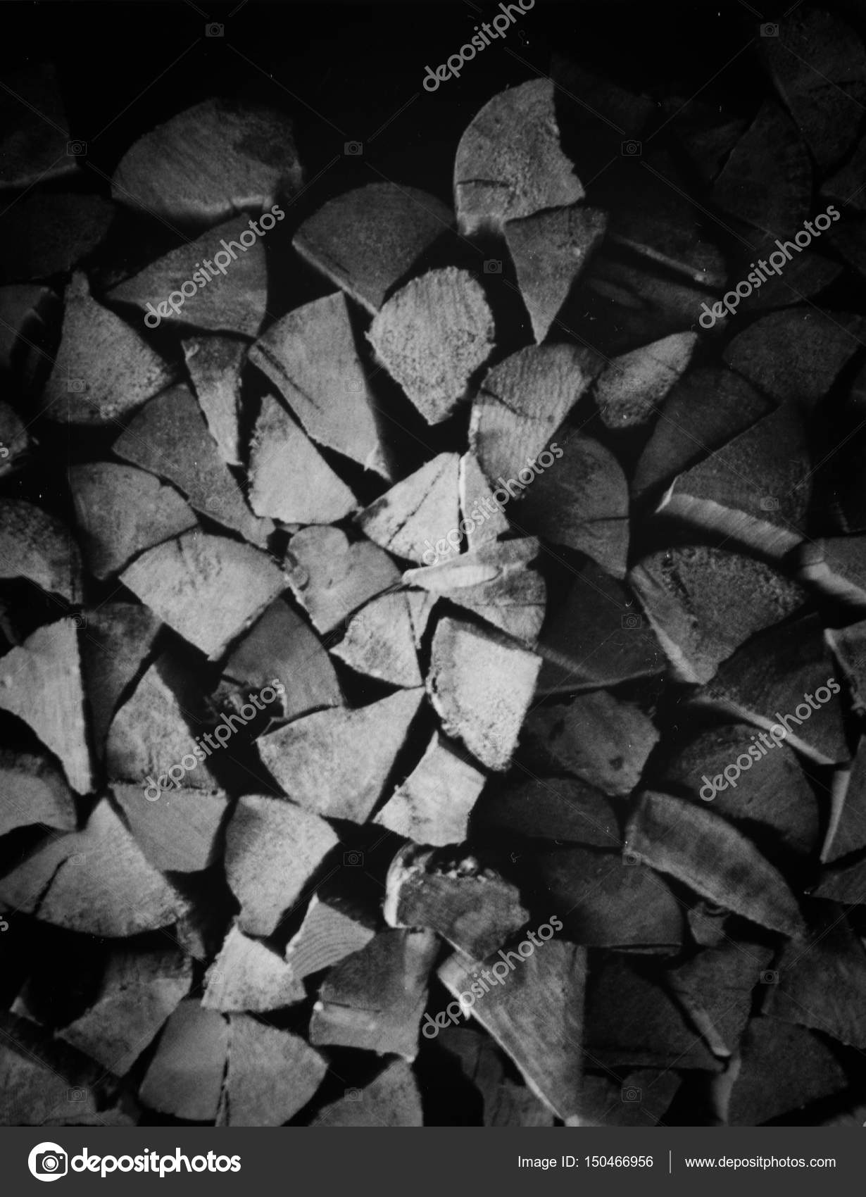 Wood Pile Black and White — Stock Photo © cmbankus #150466956
