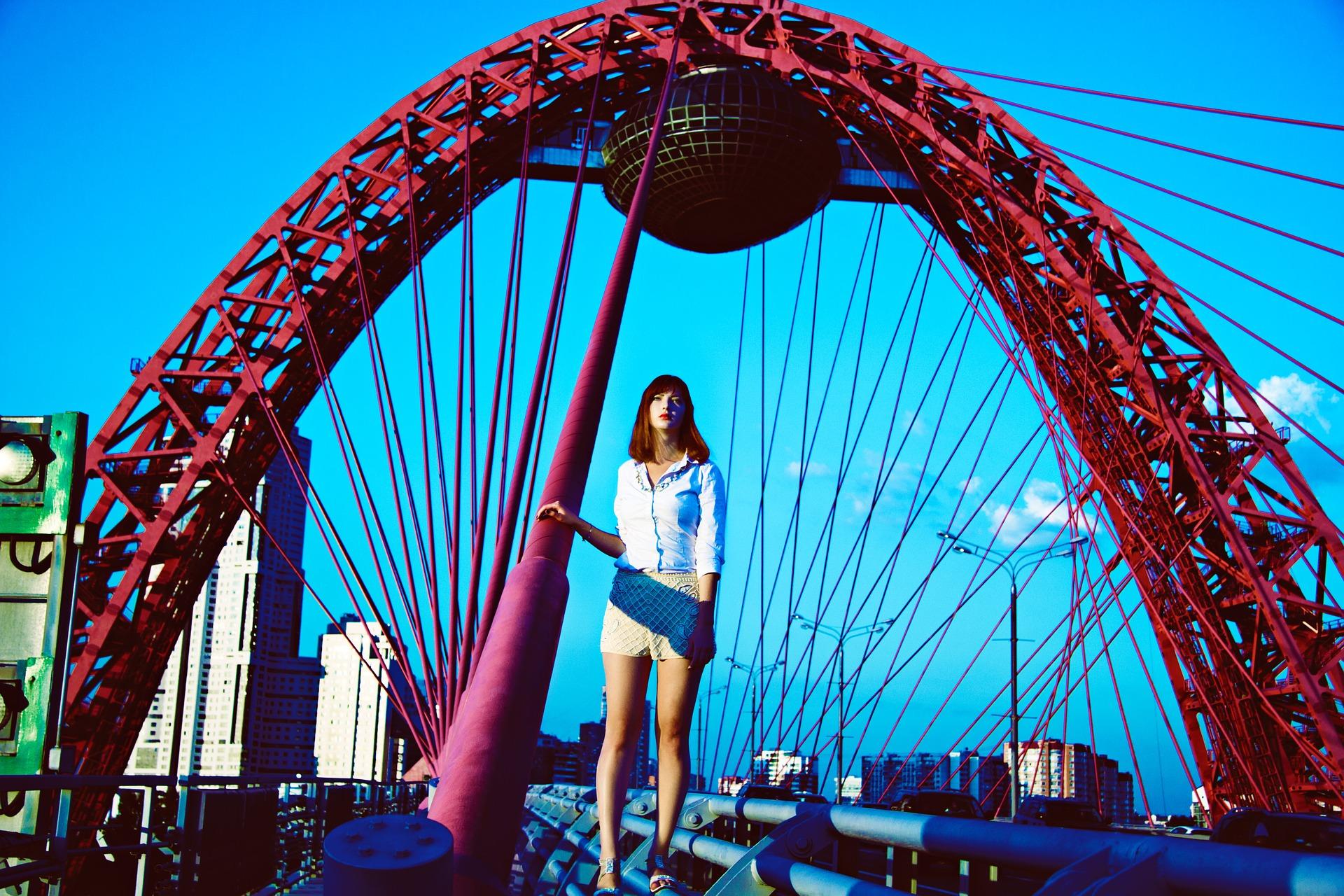 Photoshoot on the picturesque bridge