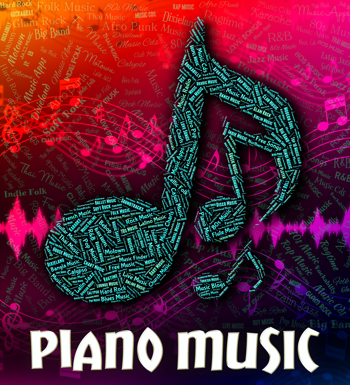 Free photo: Piano Music Represents Keyboard Harmonies And