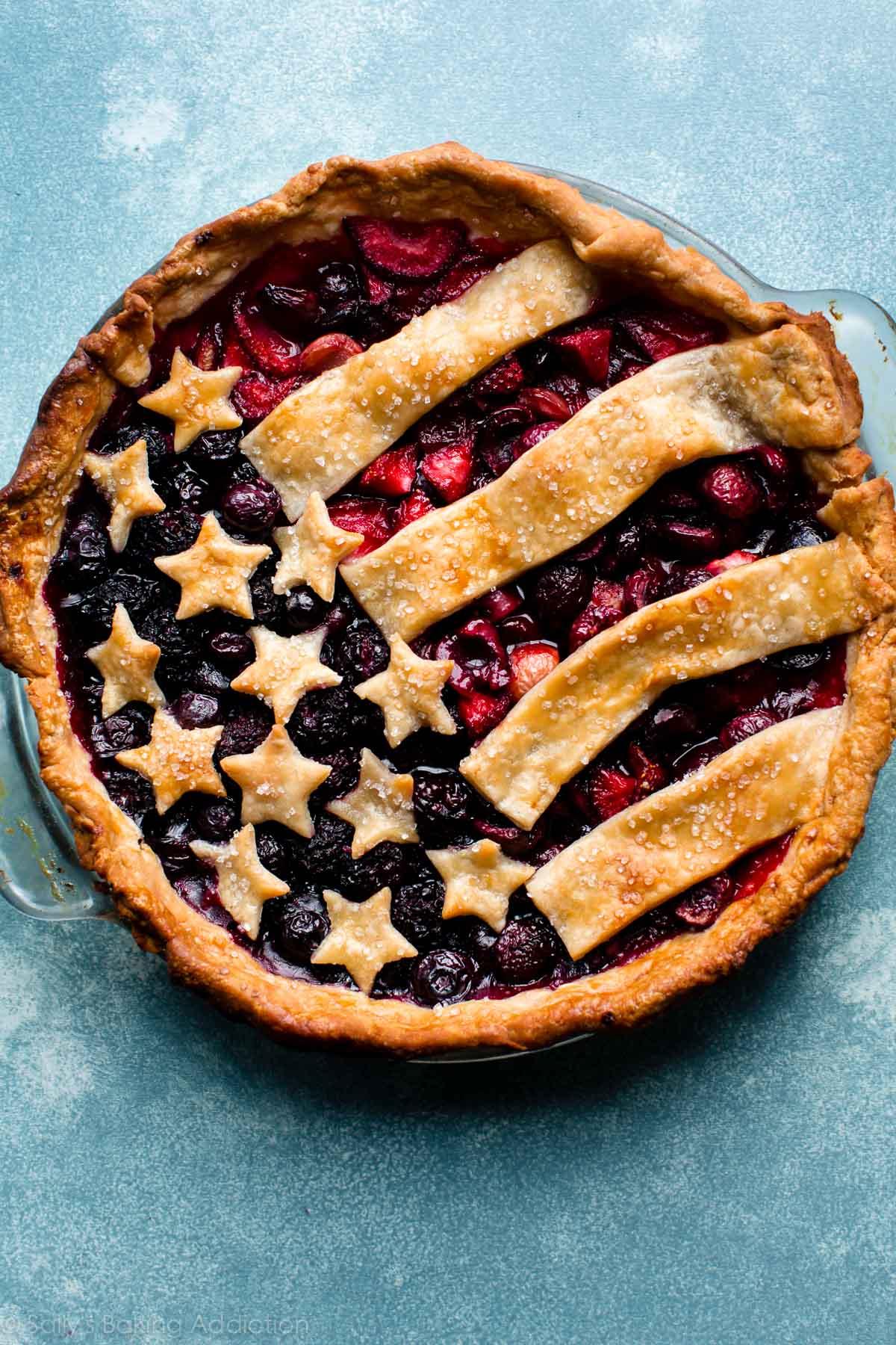 American Flag Pie + Video - Sallys Baking Addiction