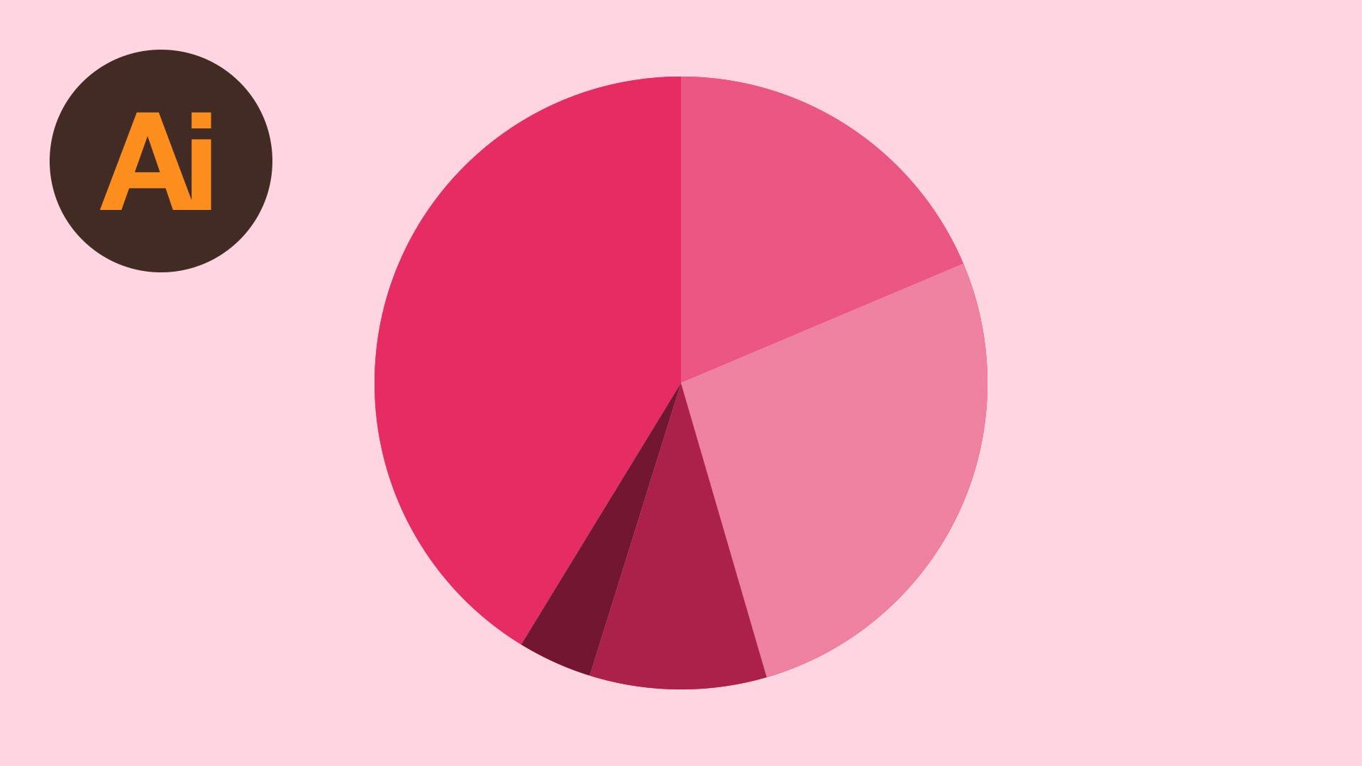 Pie graph illustration photo