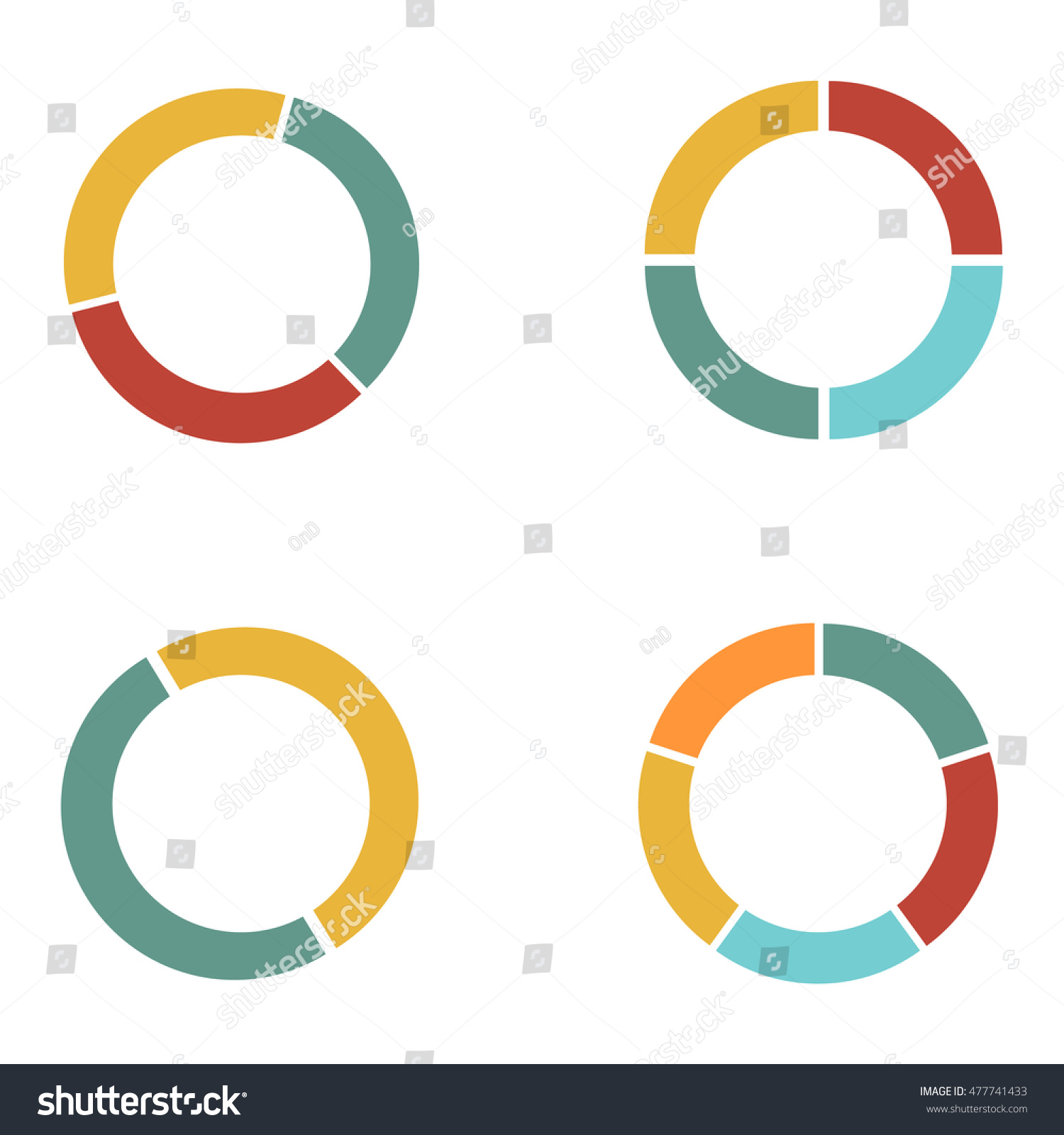 Graph Circle Set Pie Graph 4 Stock Illustration 477741433 - Shutterstock