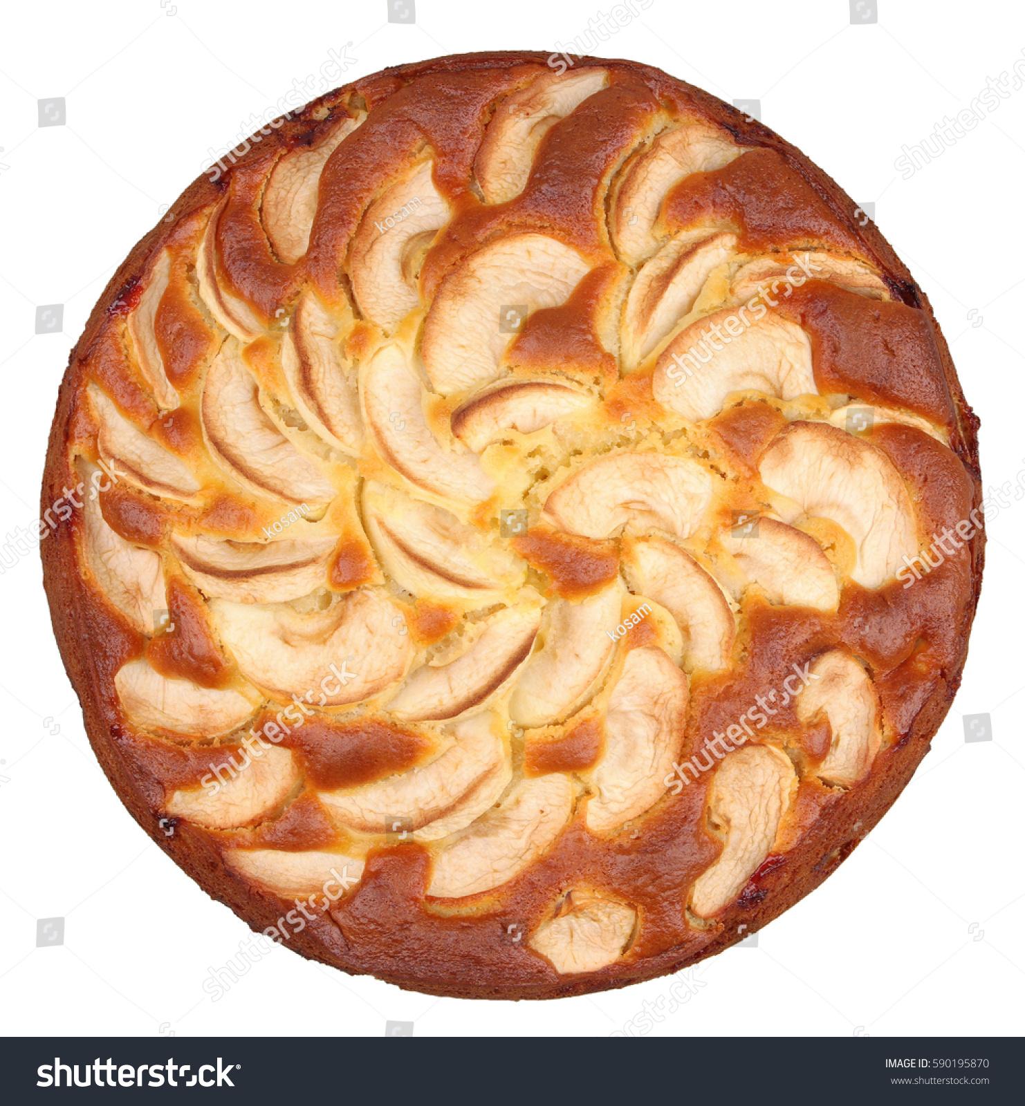 Pie on white photo