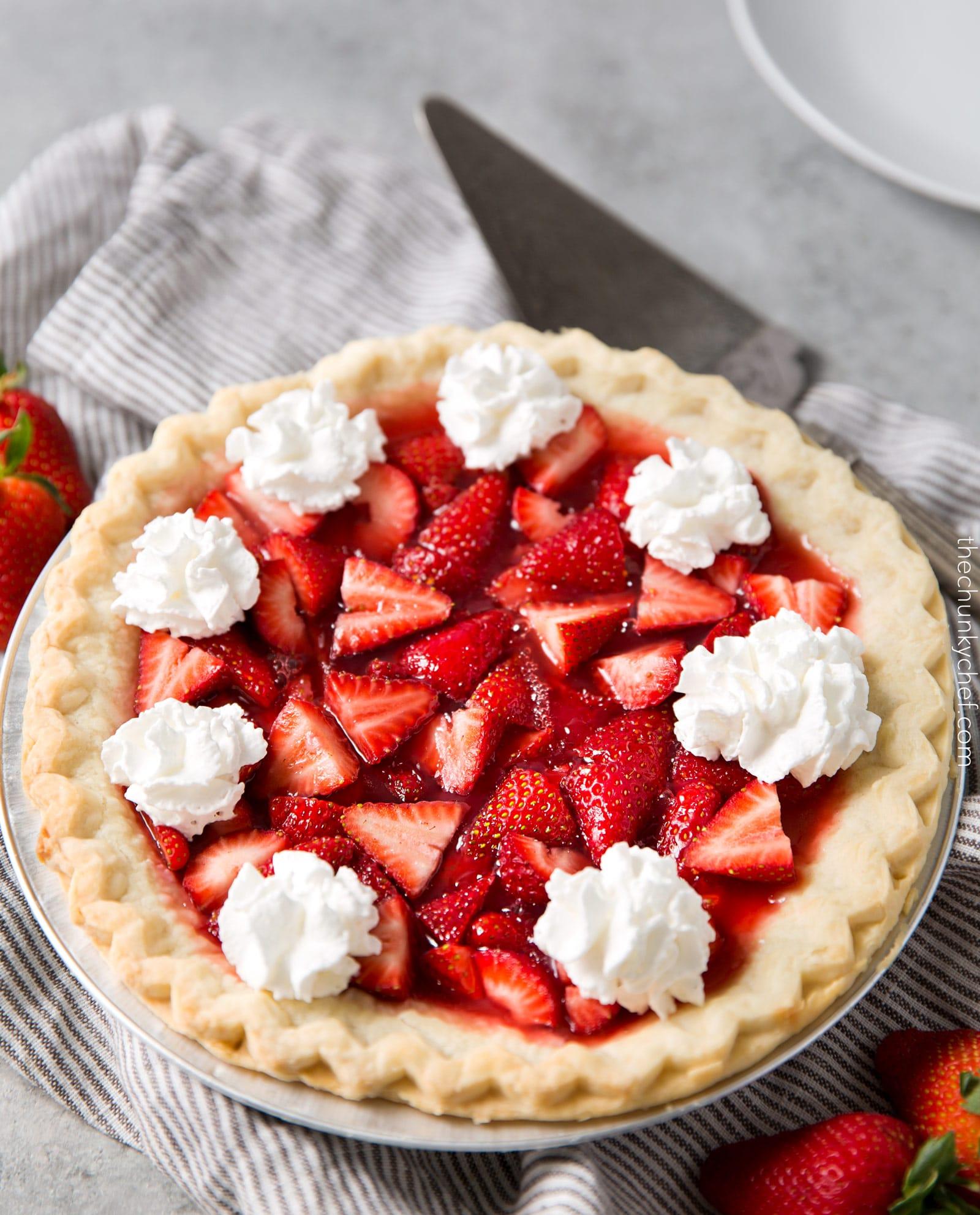 Copycat Frisch's Big Boy Fresh Strawberry Pie - The Chunky Chef
