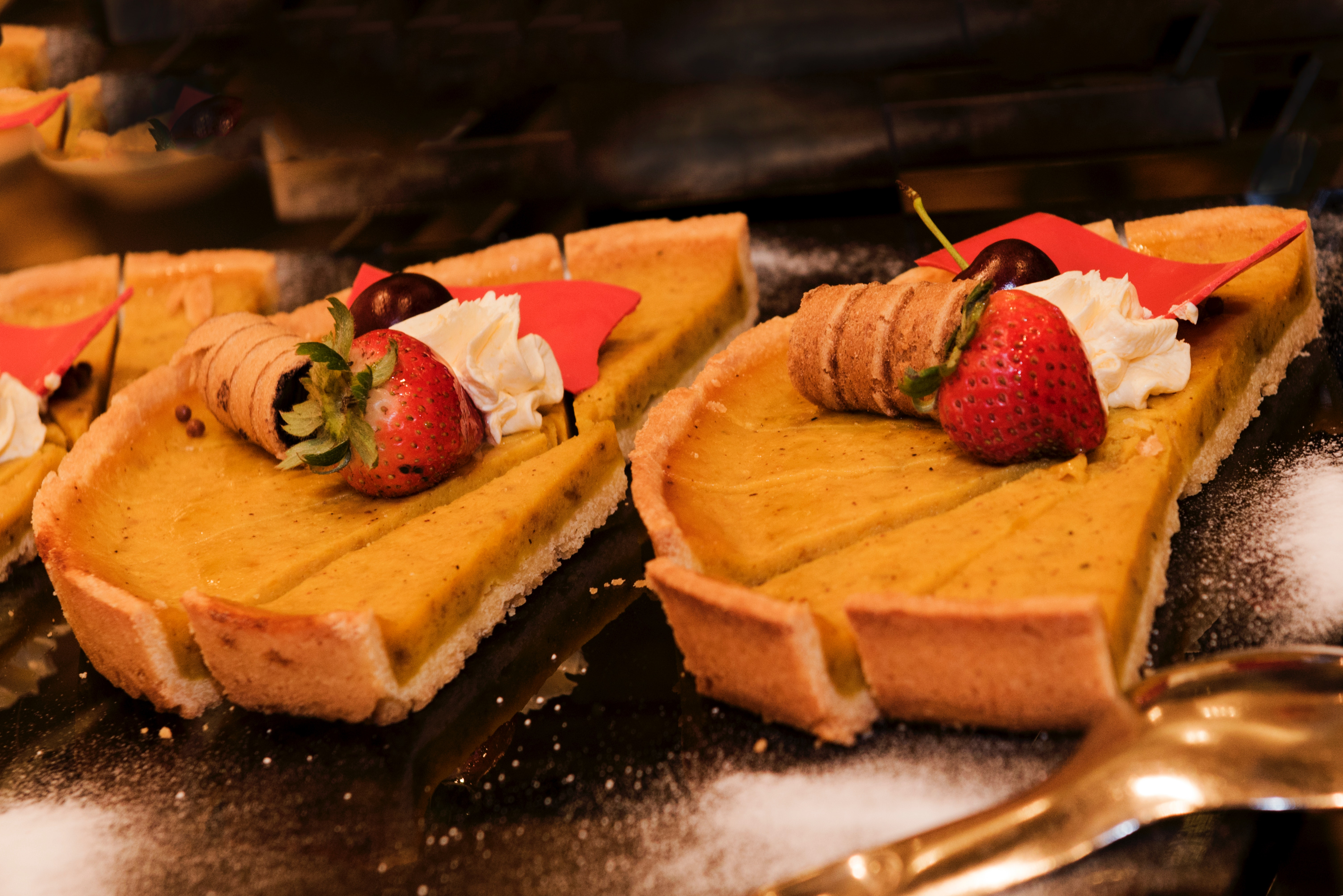 Pie With Strawberries, Baked, Indulgence, Table, Sweet, HQ Photo