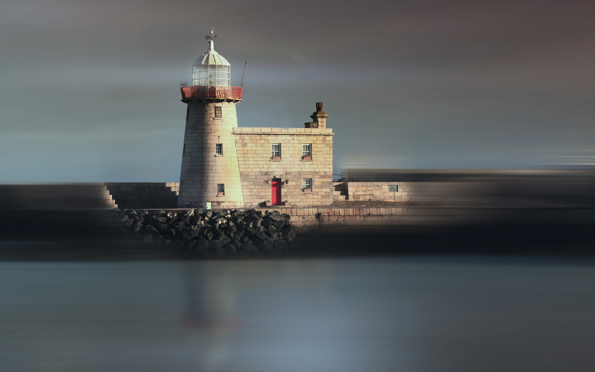 Lighthouses: Amazing Lighthouse Man Pier Rocks Images for HD 16:9 ...
