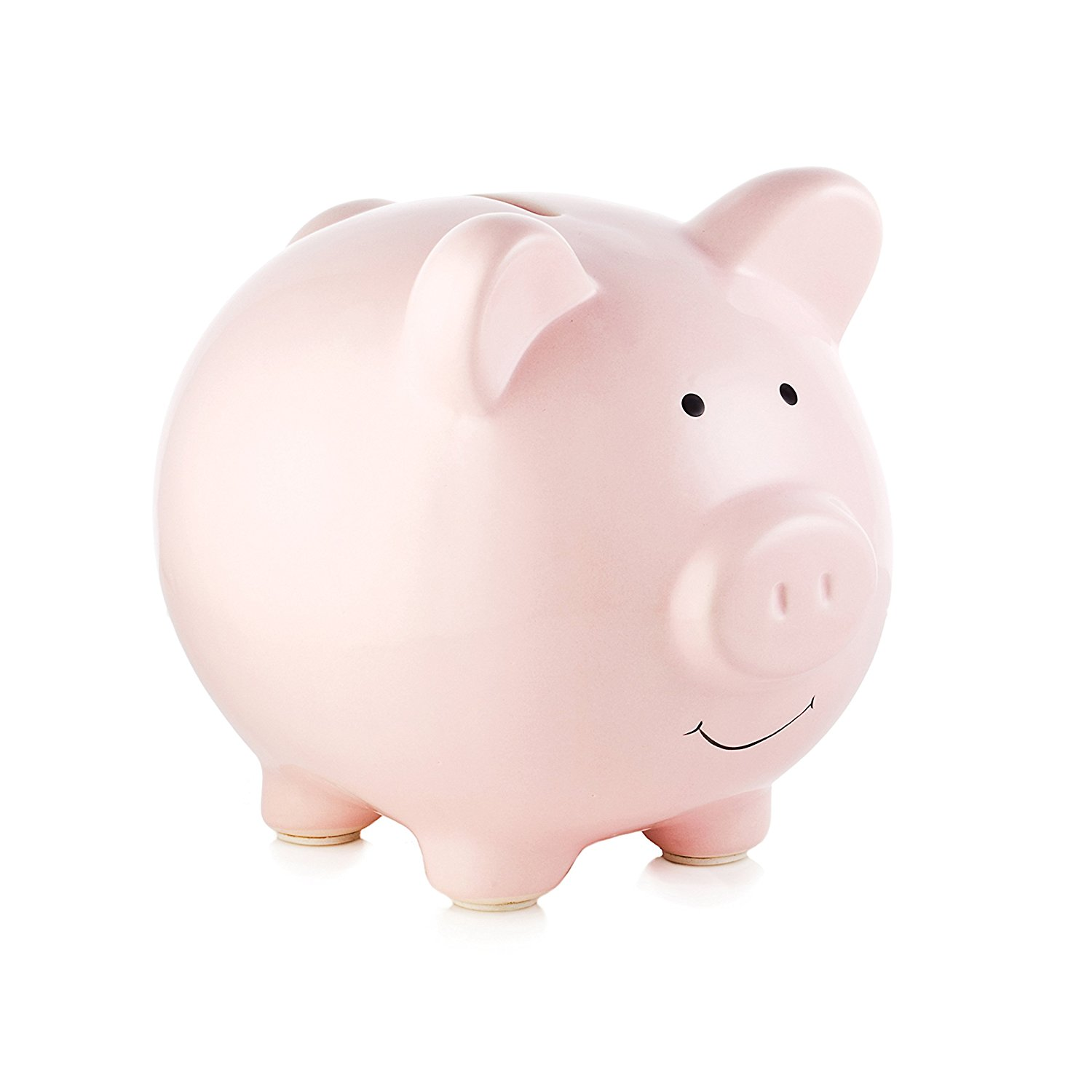 Amazon.com : Pearhead Ceramic Pink Piggy Bank, Makes a Perfect ...