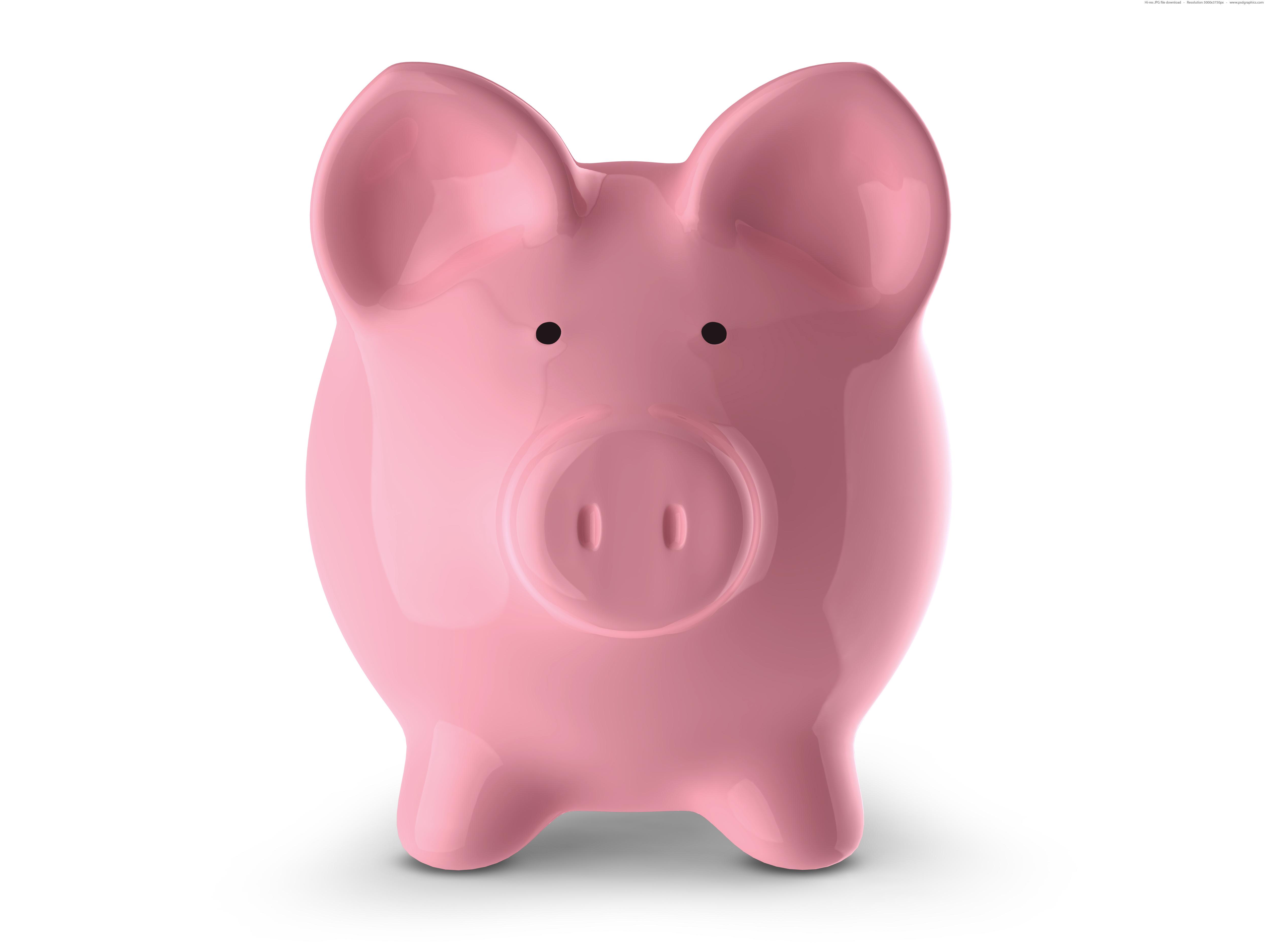 Pink piggy bank | PSDGraphics