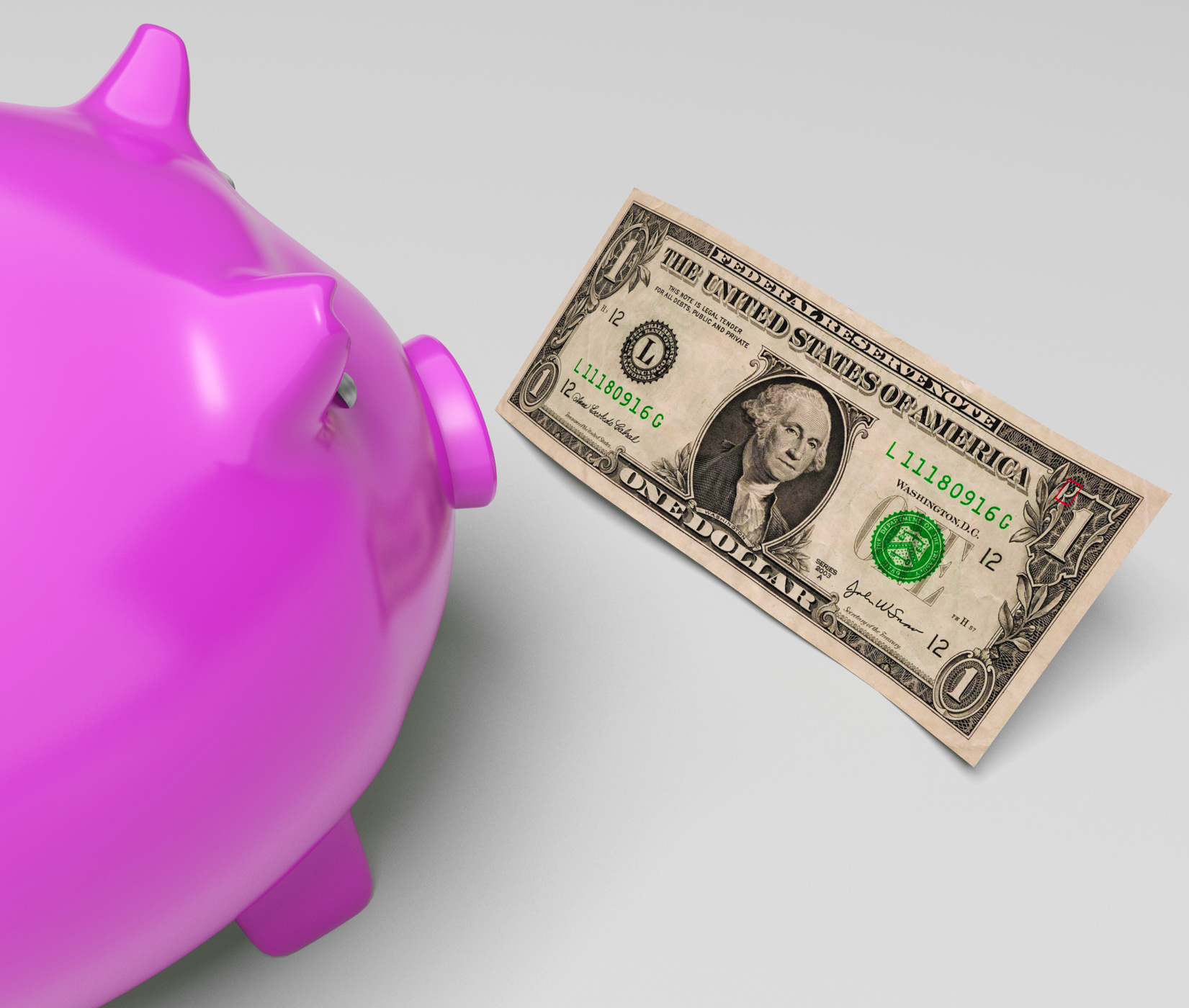 Piggy dollars shows income saved in america photo