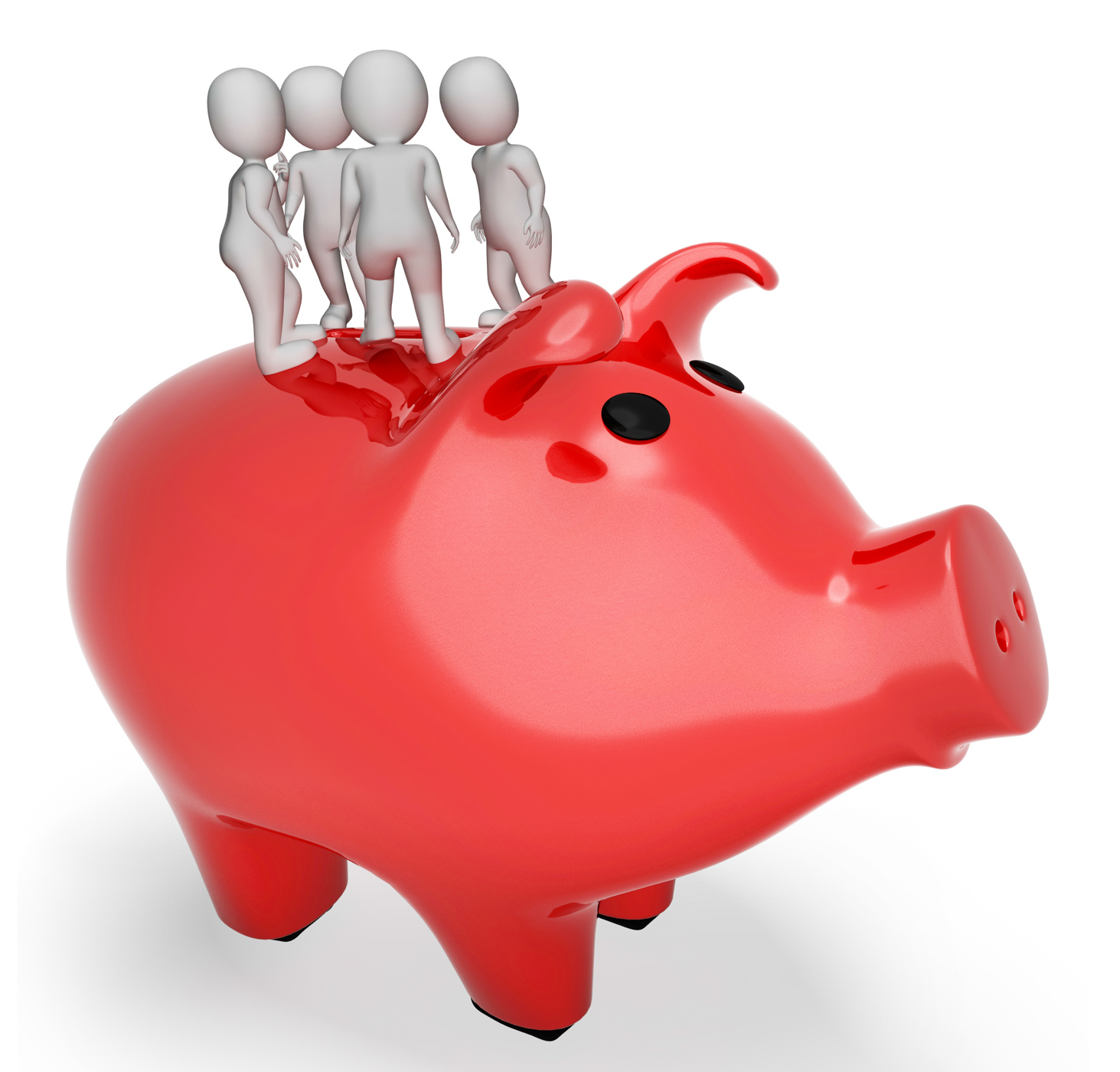 Piggybank save represents render saved and currency 3d rendering photo