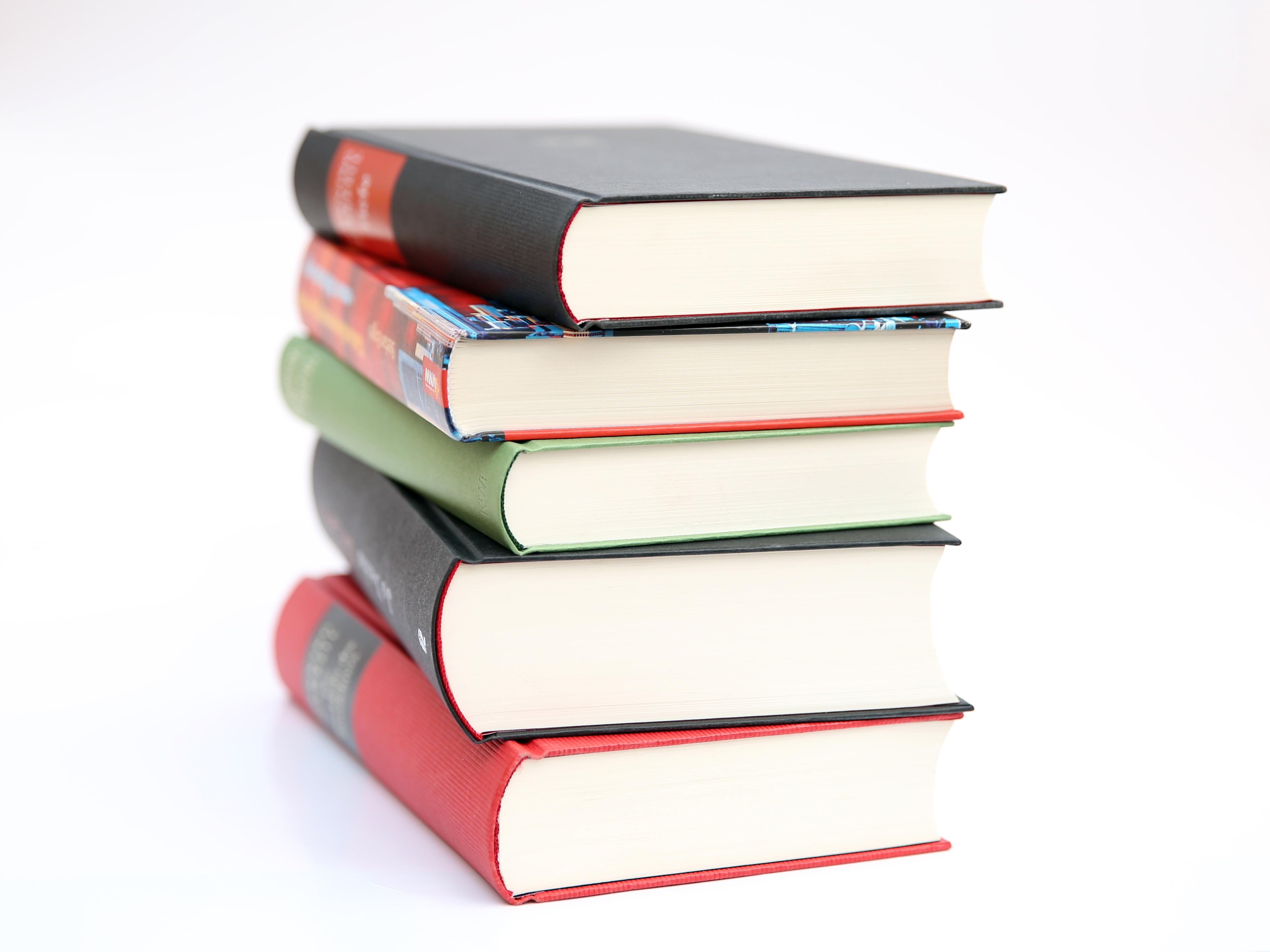 Pile of books photo