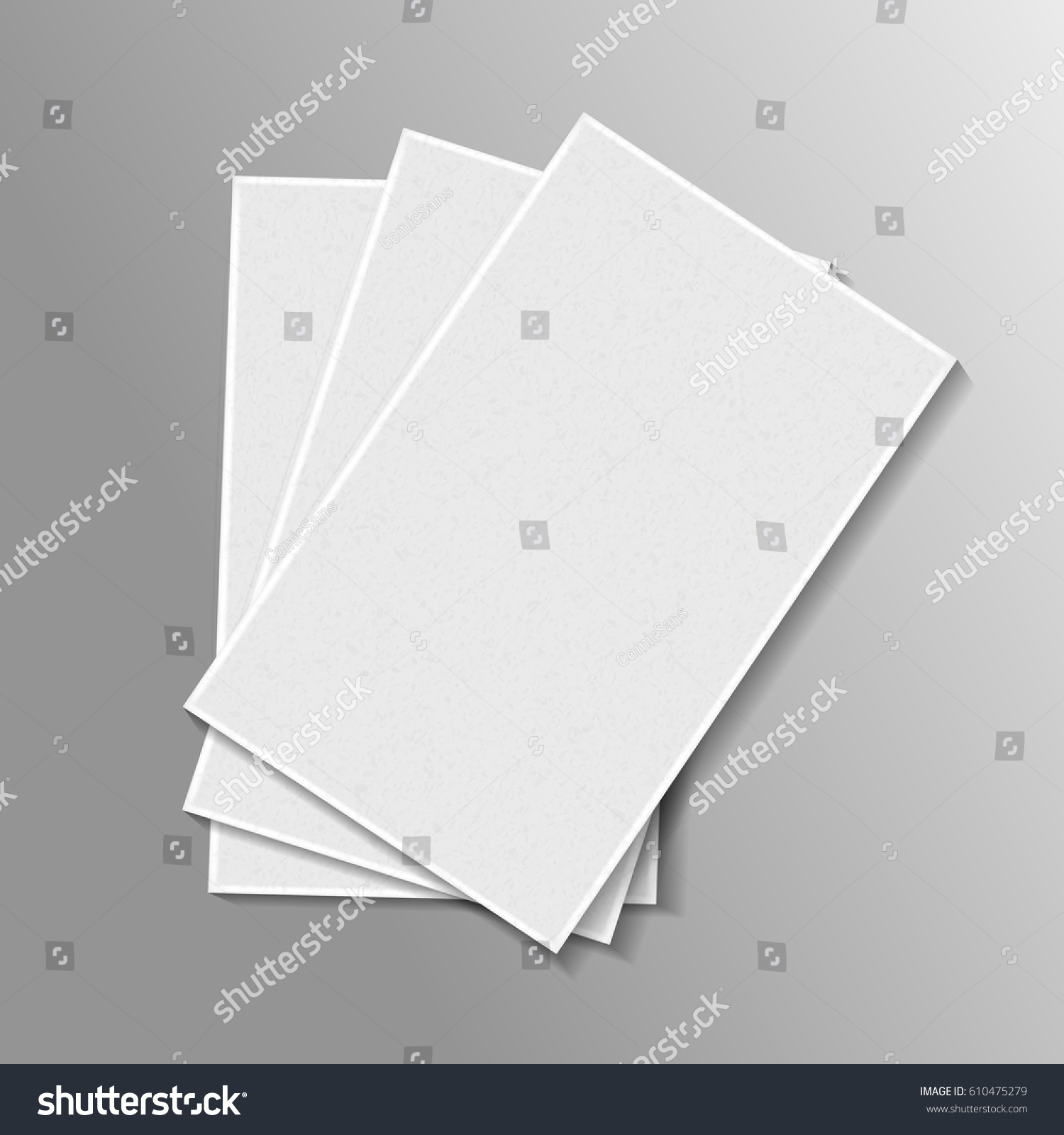 Vector Realistic Isolated Pile Paper On Stock Vector HD (Royalty ...