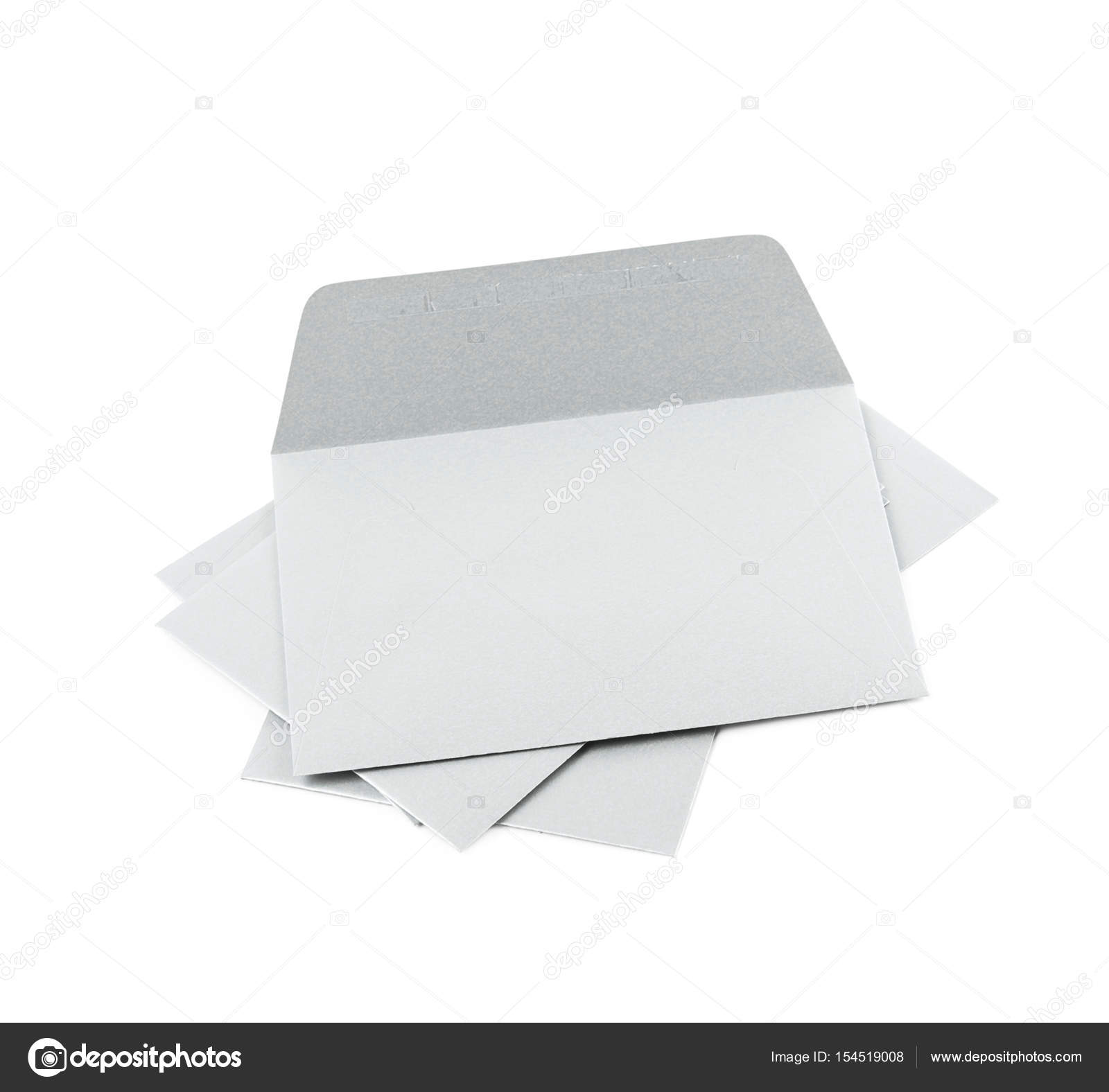 Pile of paper envelopes isolated — Stock Photo © nbvf89 #154519008