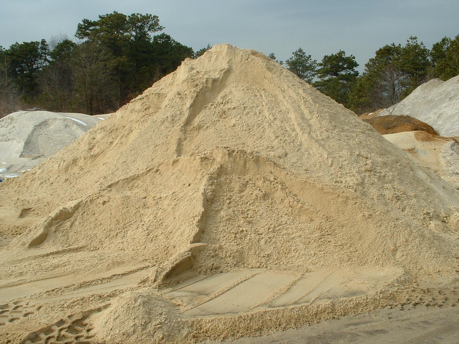 Sand piles photo