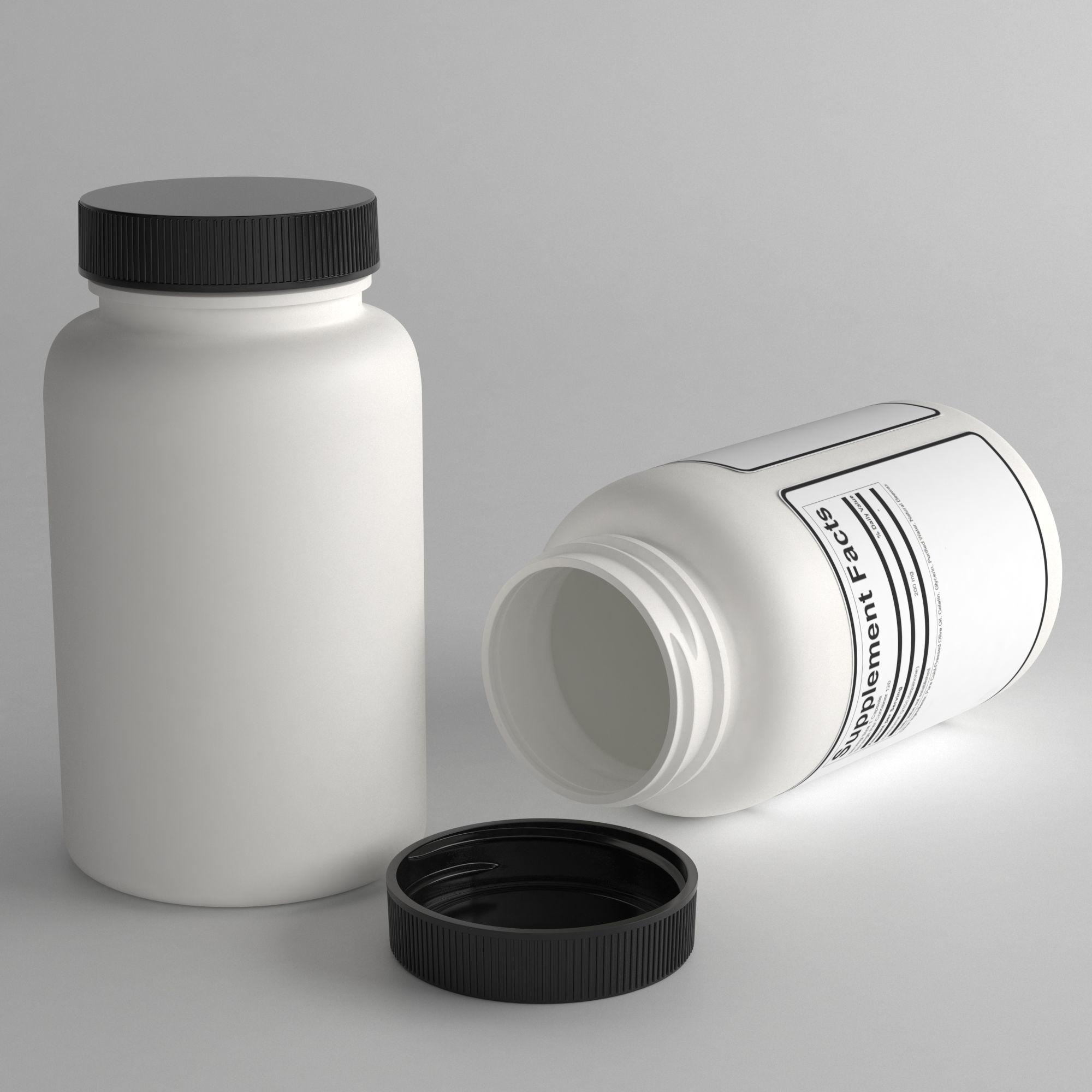 3D pills bottle | CGTrader
