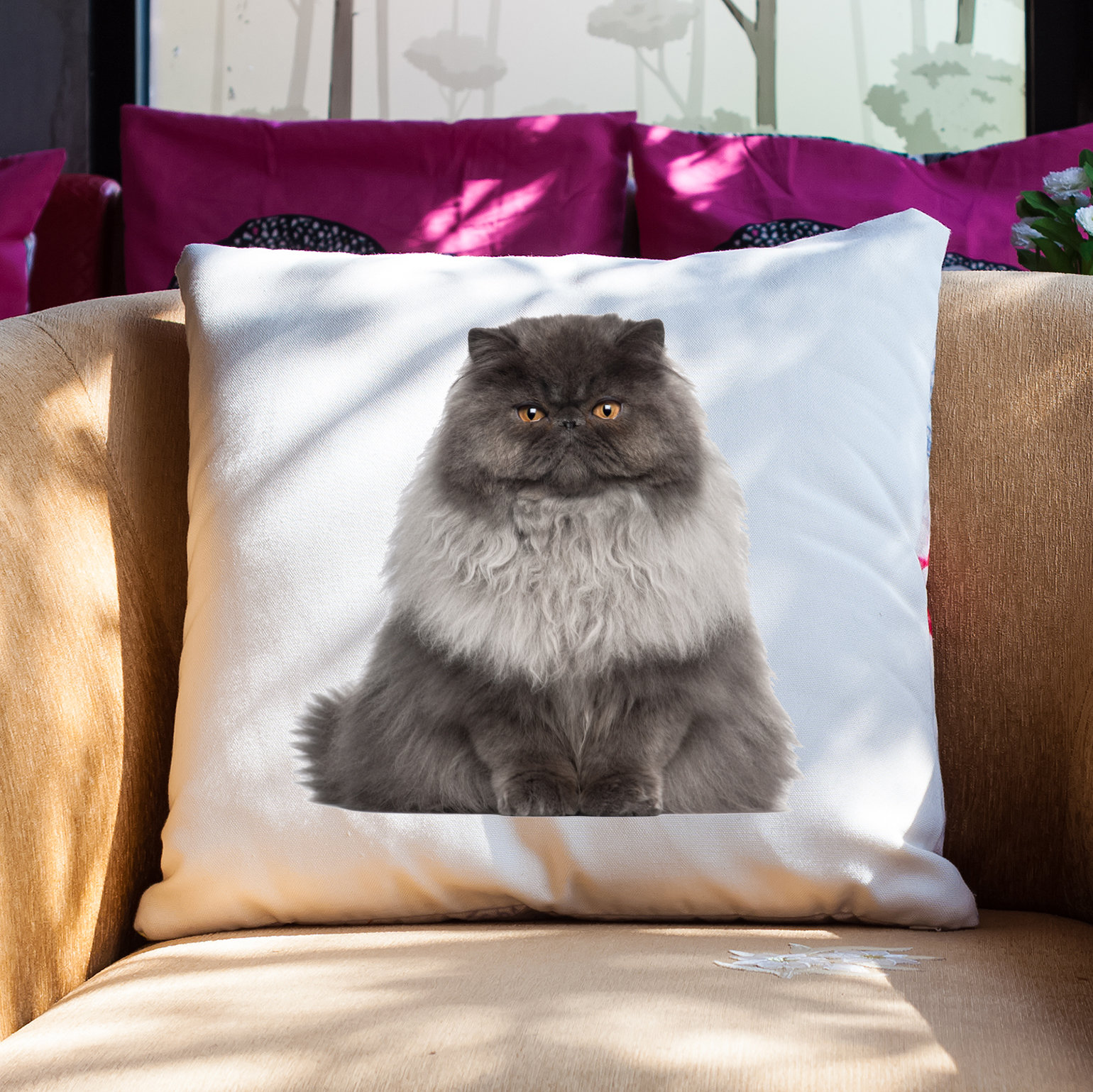 Cat pillow case animal pillow cover cat cushion cover