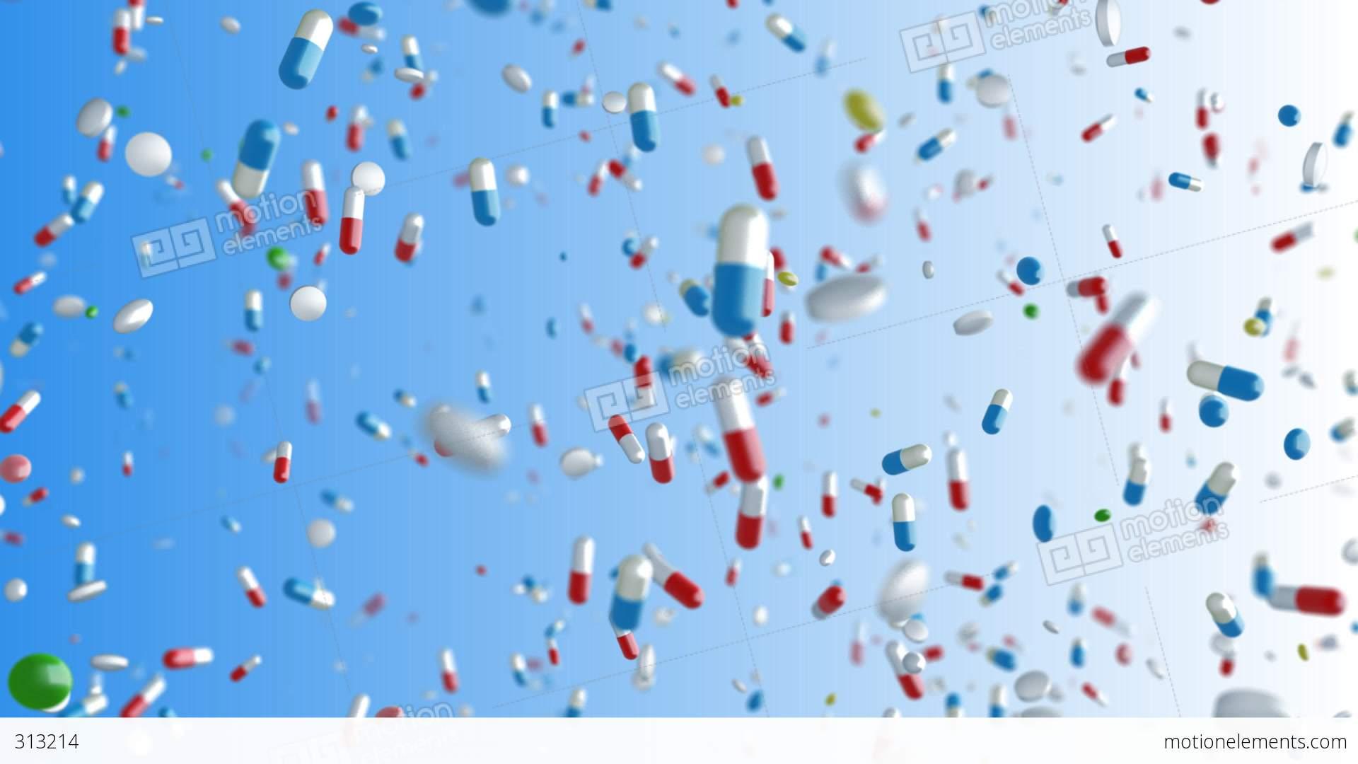 Medicine Drug 2bC Capsule Tablet Pills Stock Animation | 313214